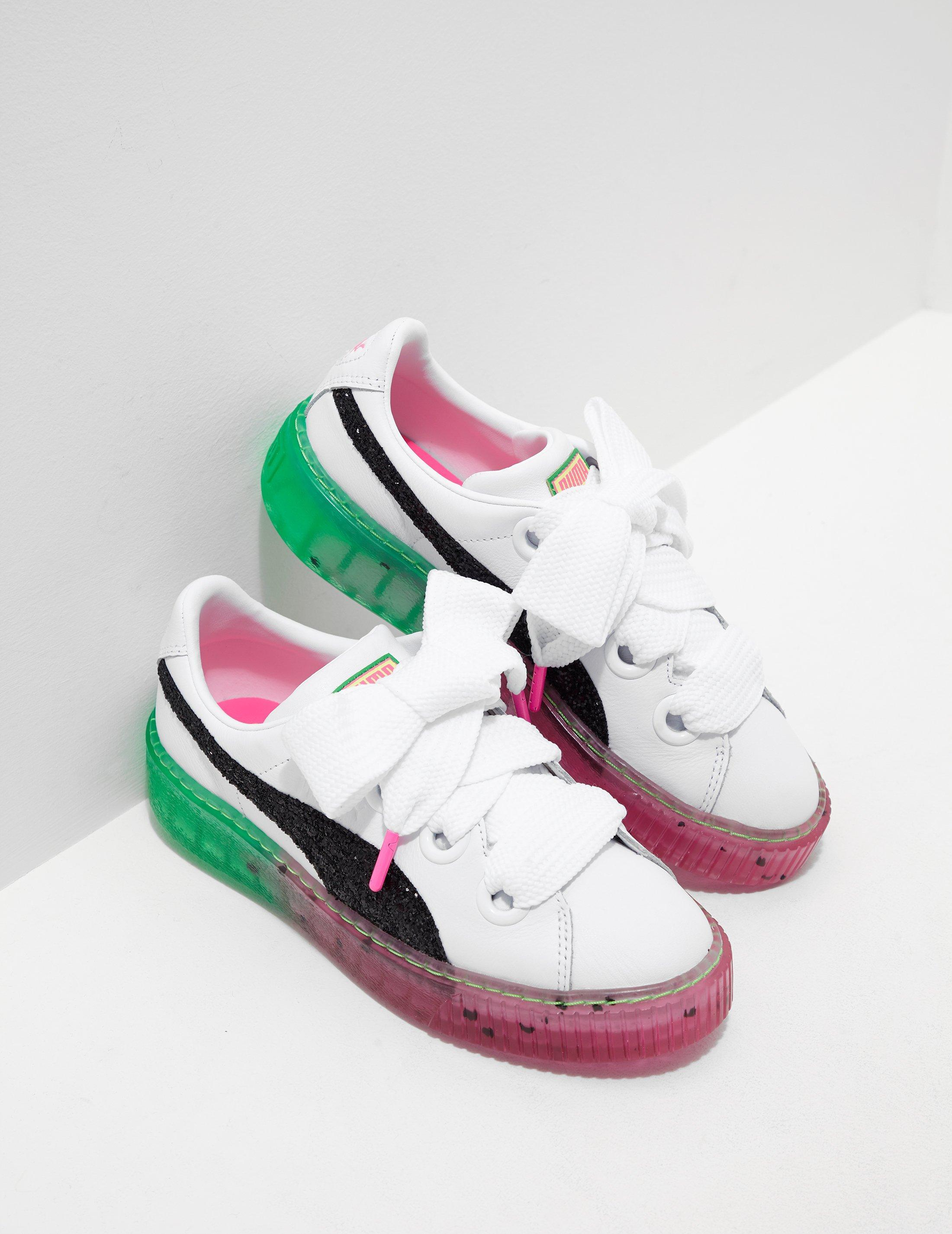 0f5c4d6c7561a6 Lyst - PUMA X Sophia Webster Platform Candy Princess Trainers White ...