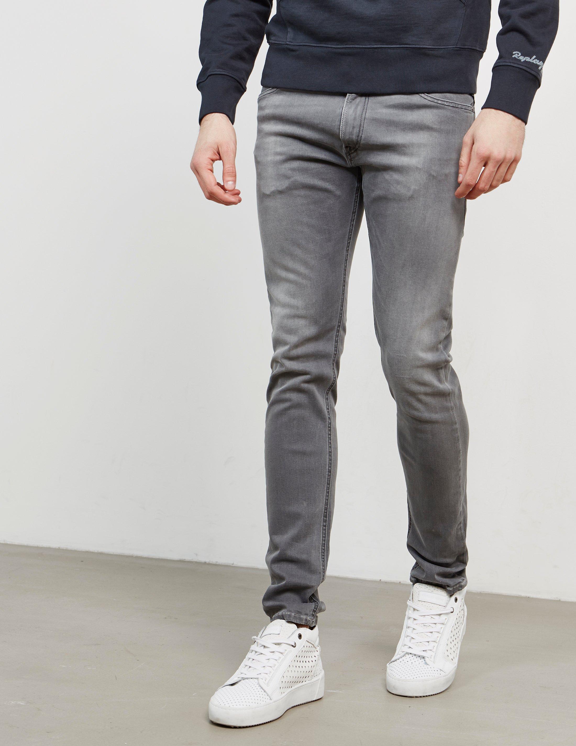 440e5a12efa Replay Mens Jondrill Skinny Jeans Grey in Gray for Men - Lyst