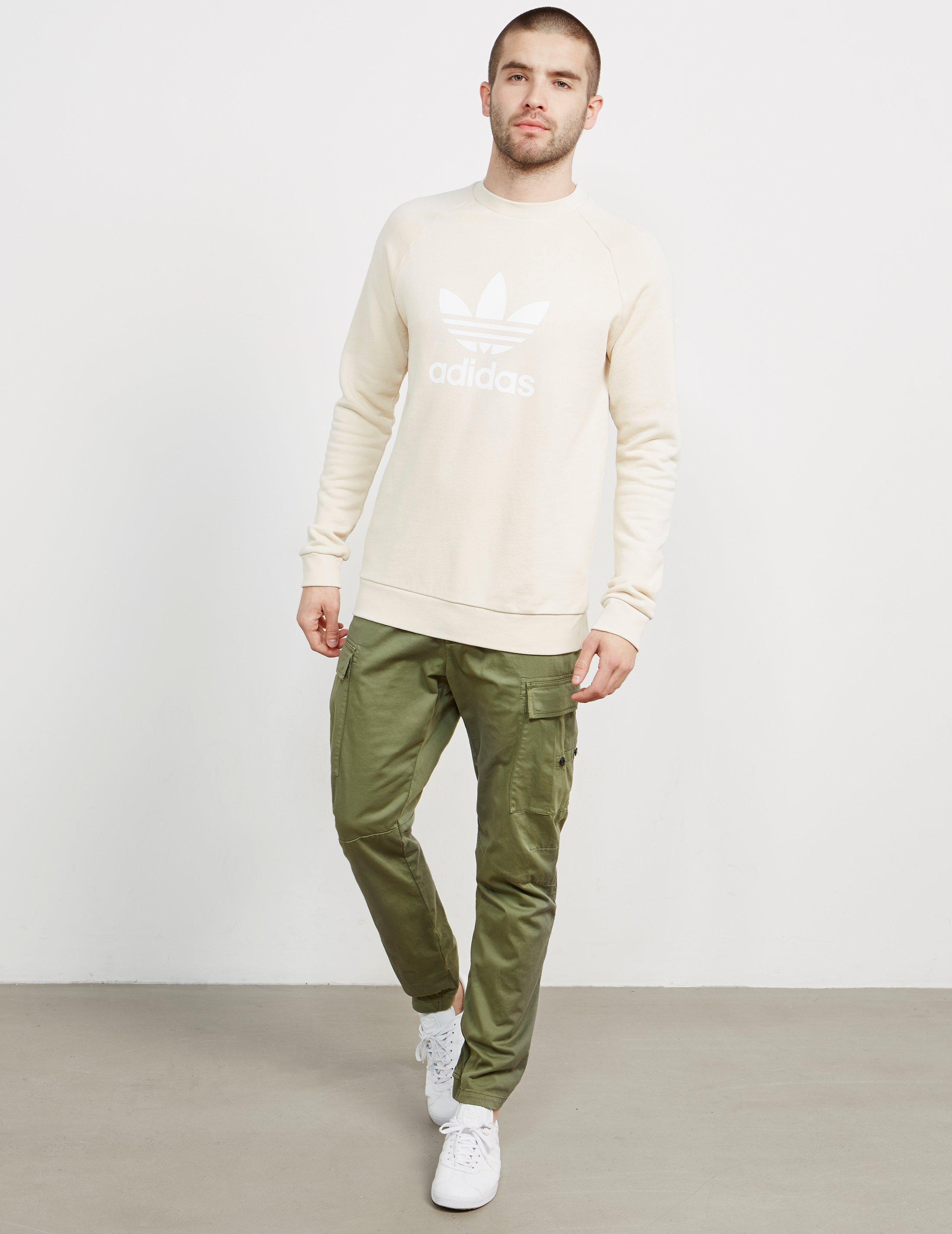 e17af9dfac75 Lyst - Adidas Originals Mens Trefoil Crew Sweatshirt Linen for Men