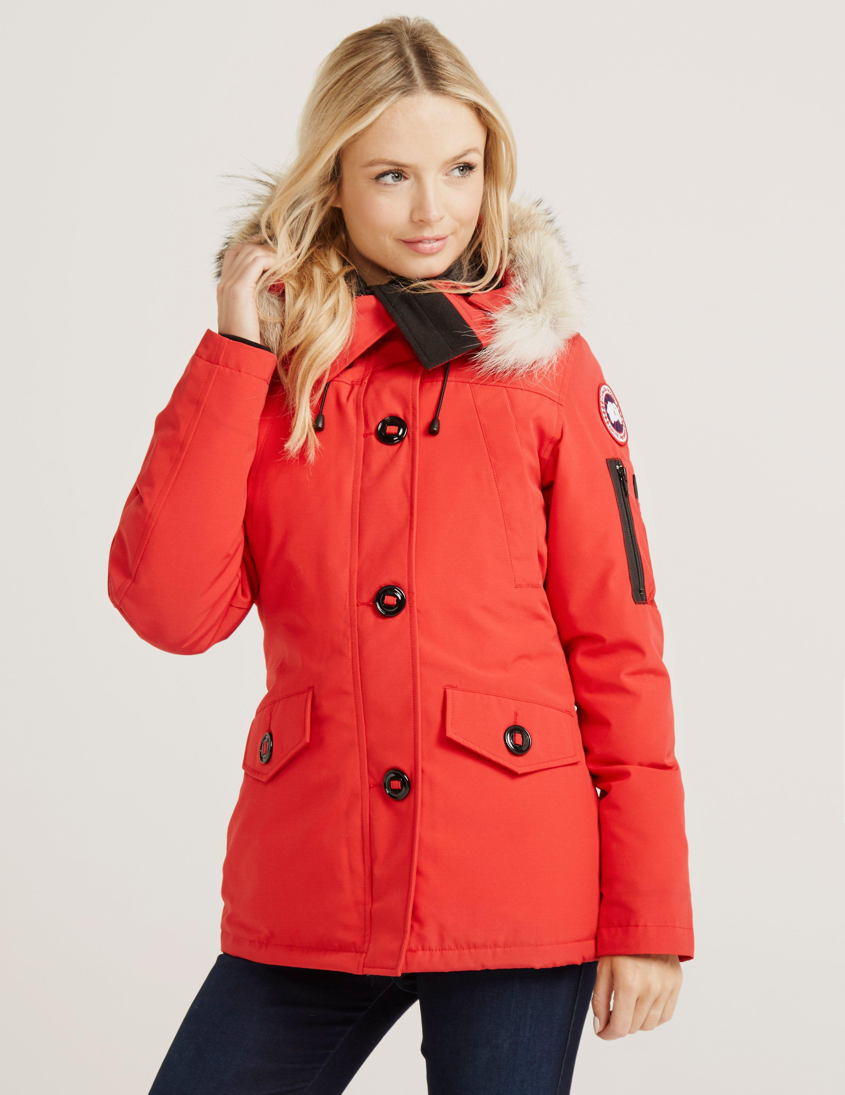 7e05855eabcbf ... discount code for canada goose. womens red montebello parka 6d9b2 b5976