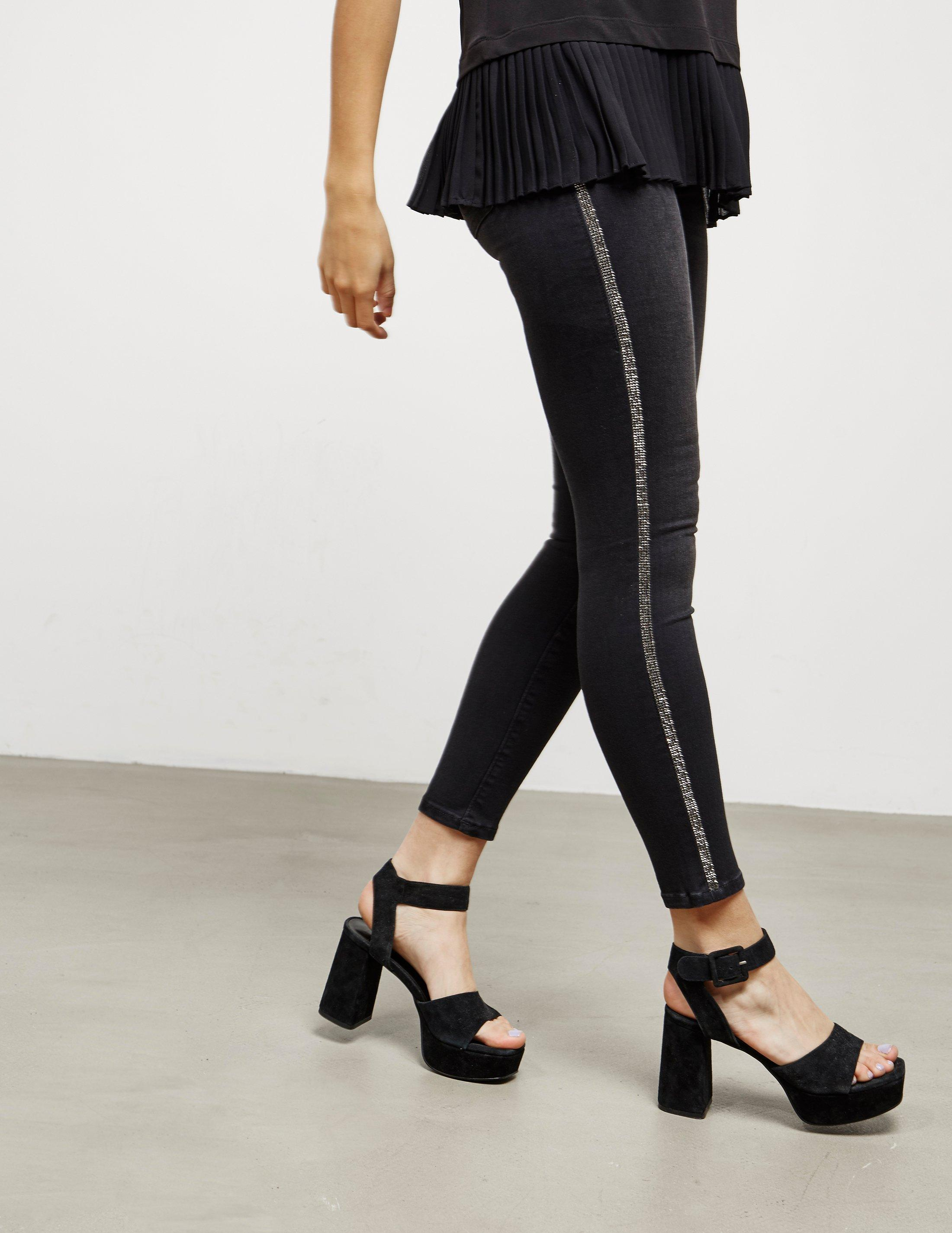 ... Gym Stretch Sports Pants Trousers  outlet store sale 2adf3 ce3e3 True  Religion Womens Glitter Jeggings Black in Black - Lyst ... 2291d56be1c9