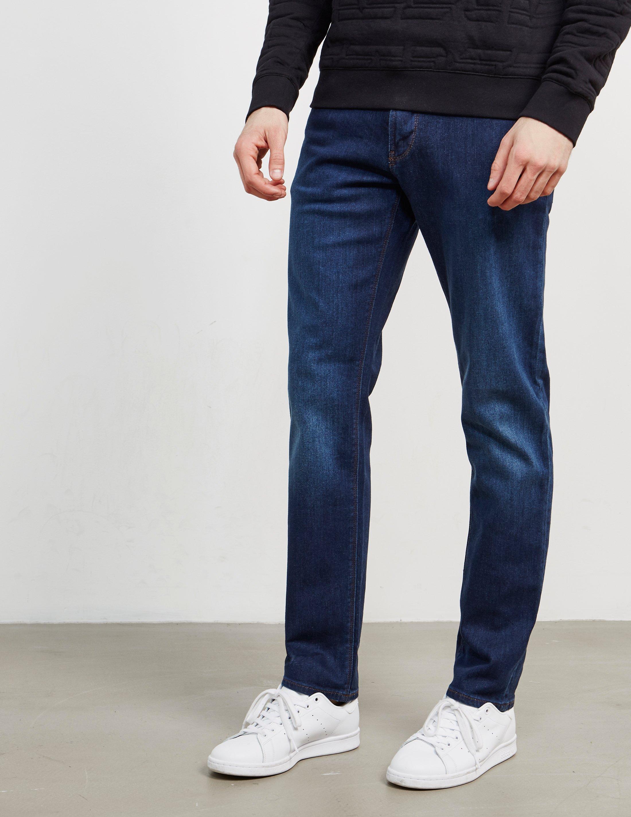 834f86439e1a2 Lyst - Emporio Armani Mens J06 Slim Jeans Blue in Blue for Men