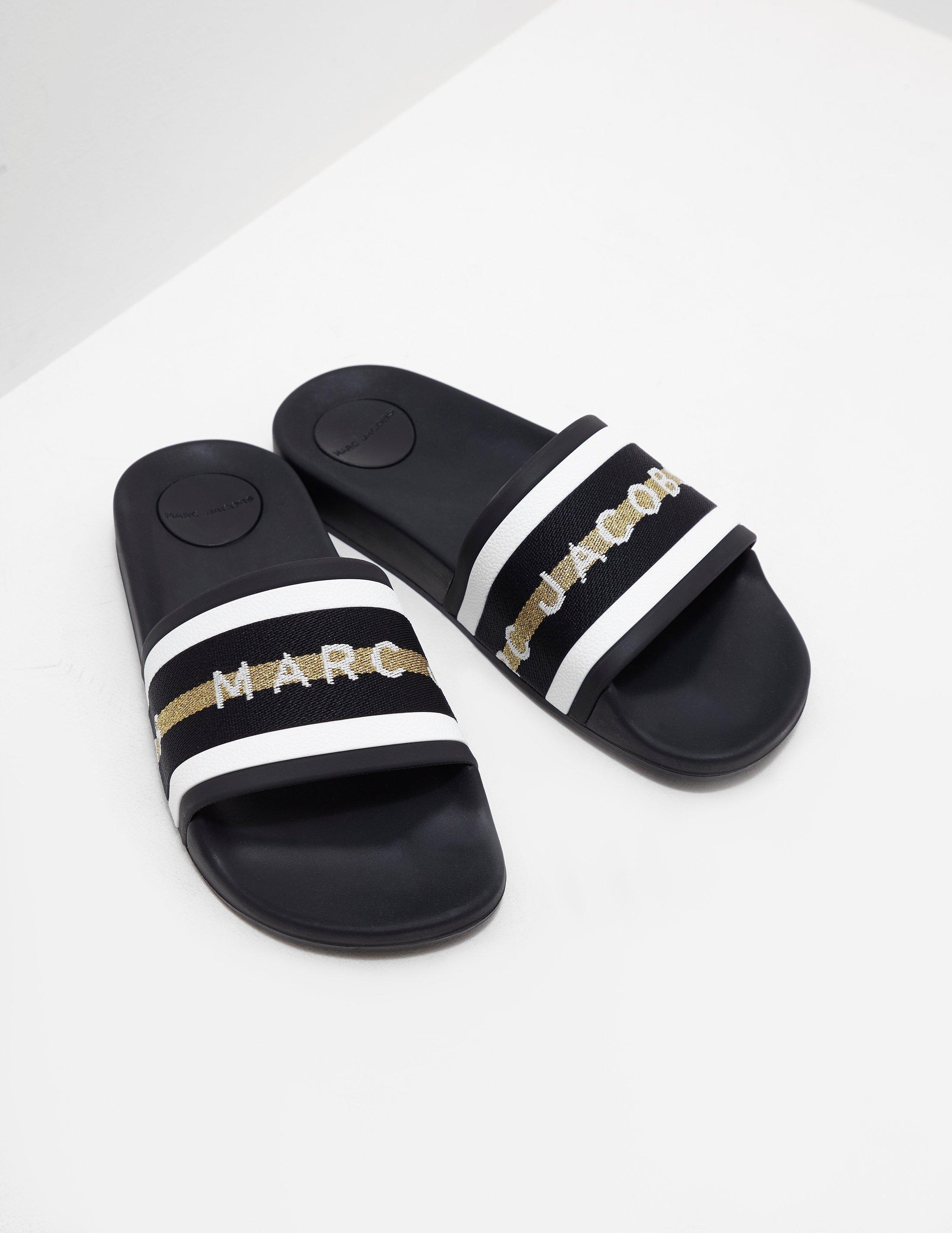 7b47fd6658aa Lyst - Marc Jacobs Womens Cooper Slides Black in Black