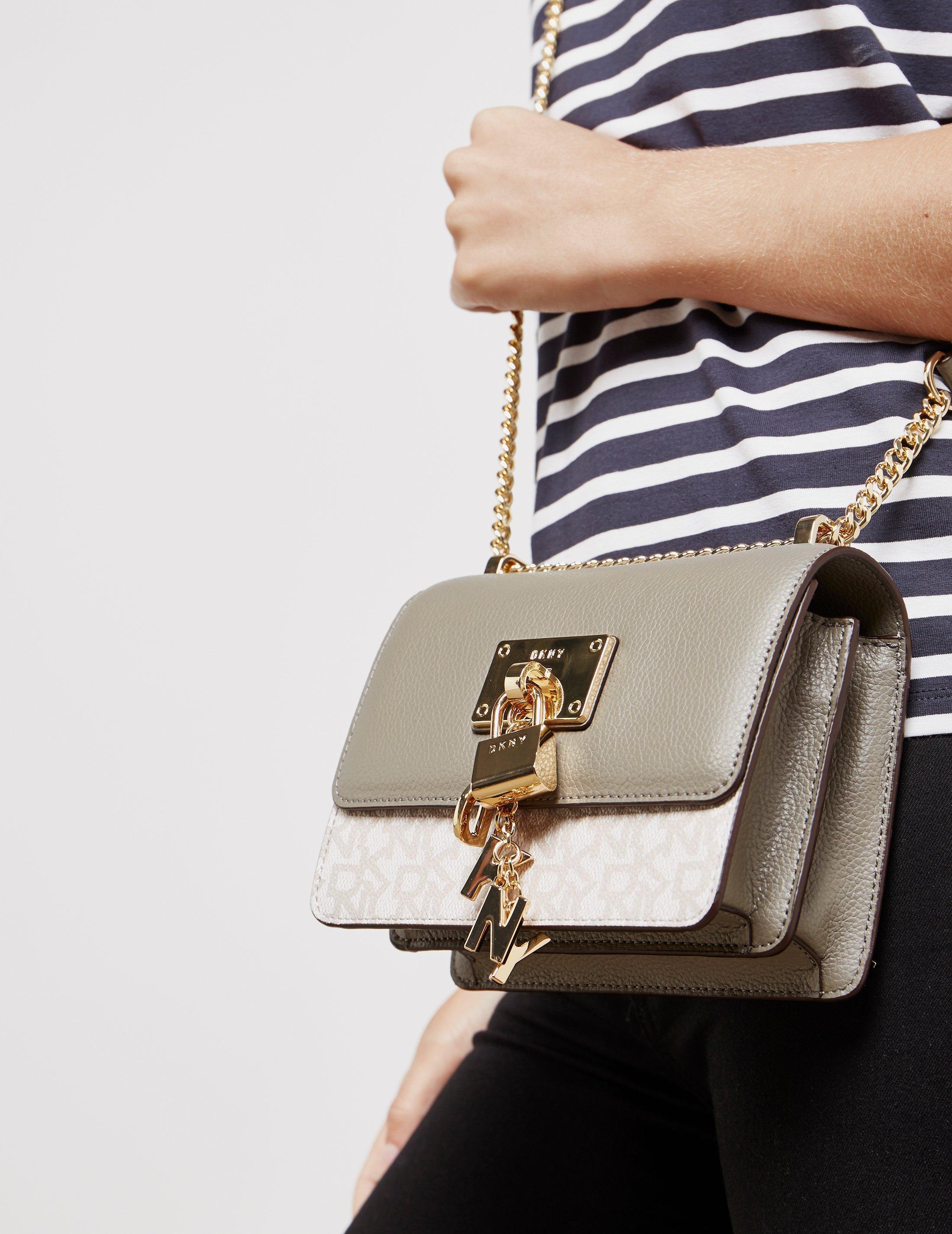 Lyst - DKNY Womens Elsa Print Crossbody Bag - Online Exclusive Grey ... 8643a851fcb2d