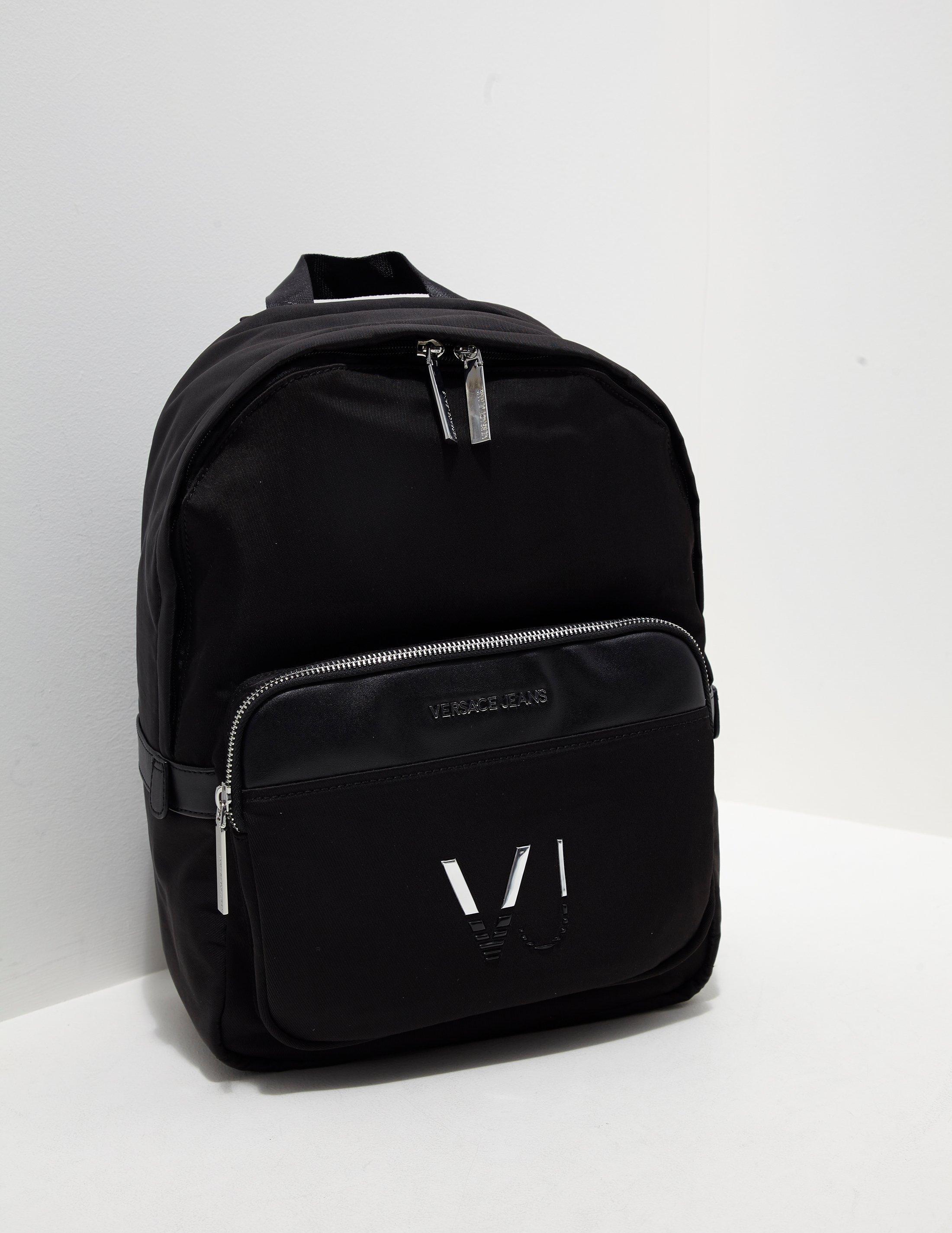 dd80cfd7ab Versace Jeans Mens Linea Logo Backpack Black in Black for Men - Lyst