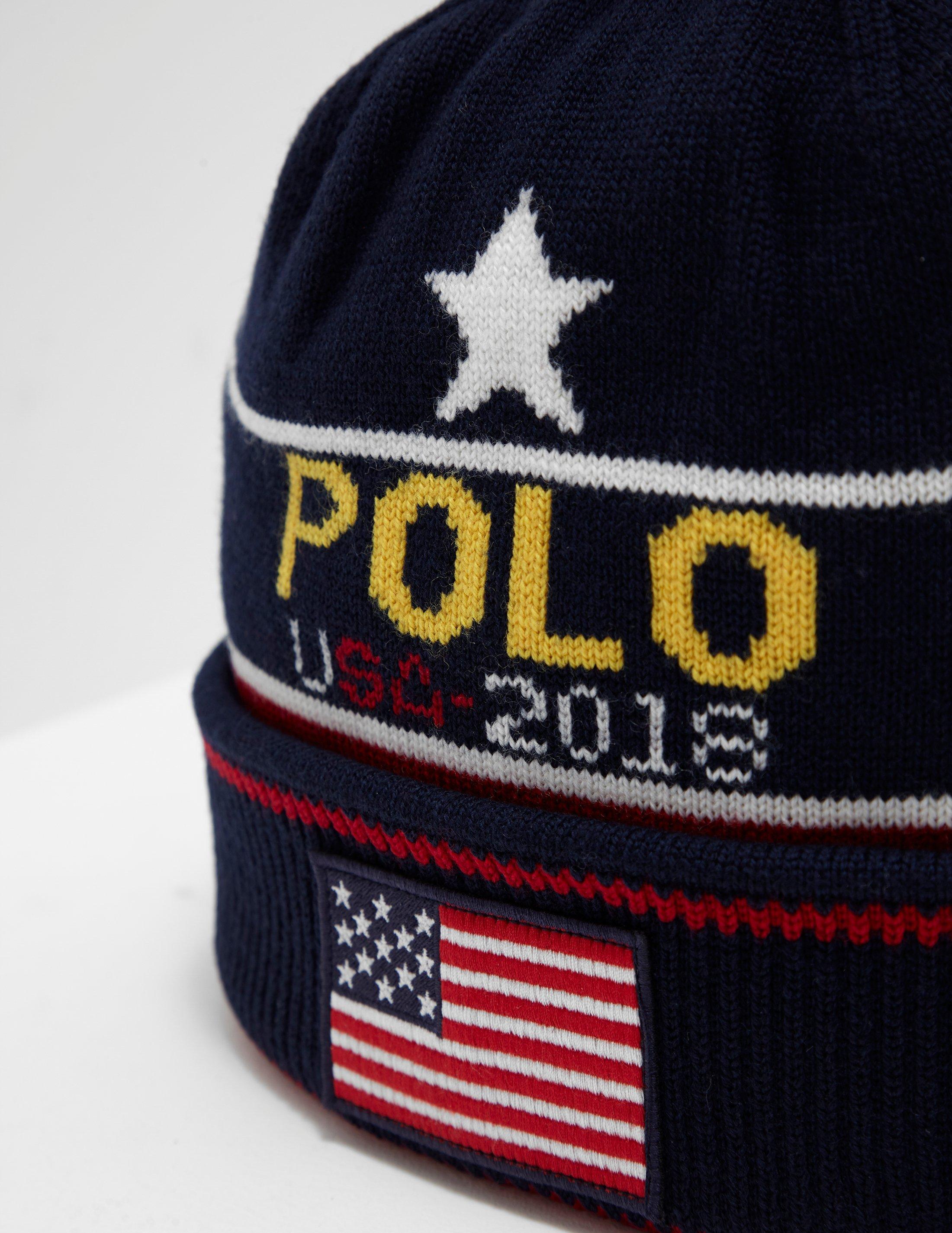 c20152759b3 Polo Ralph Lauren Mens Star And Stripe Beanie Navy Blue in Blue for Men -  Lyst