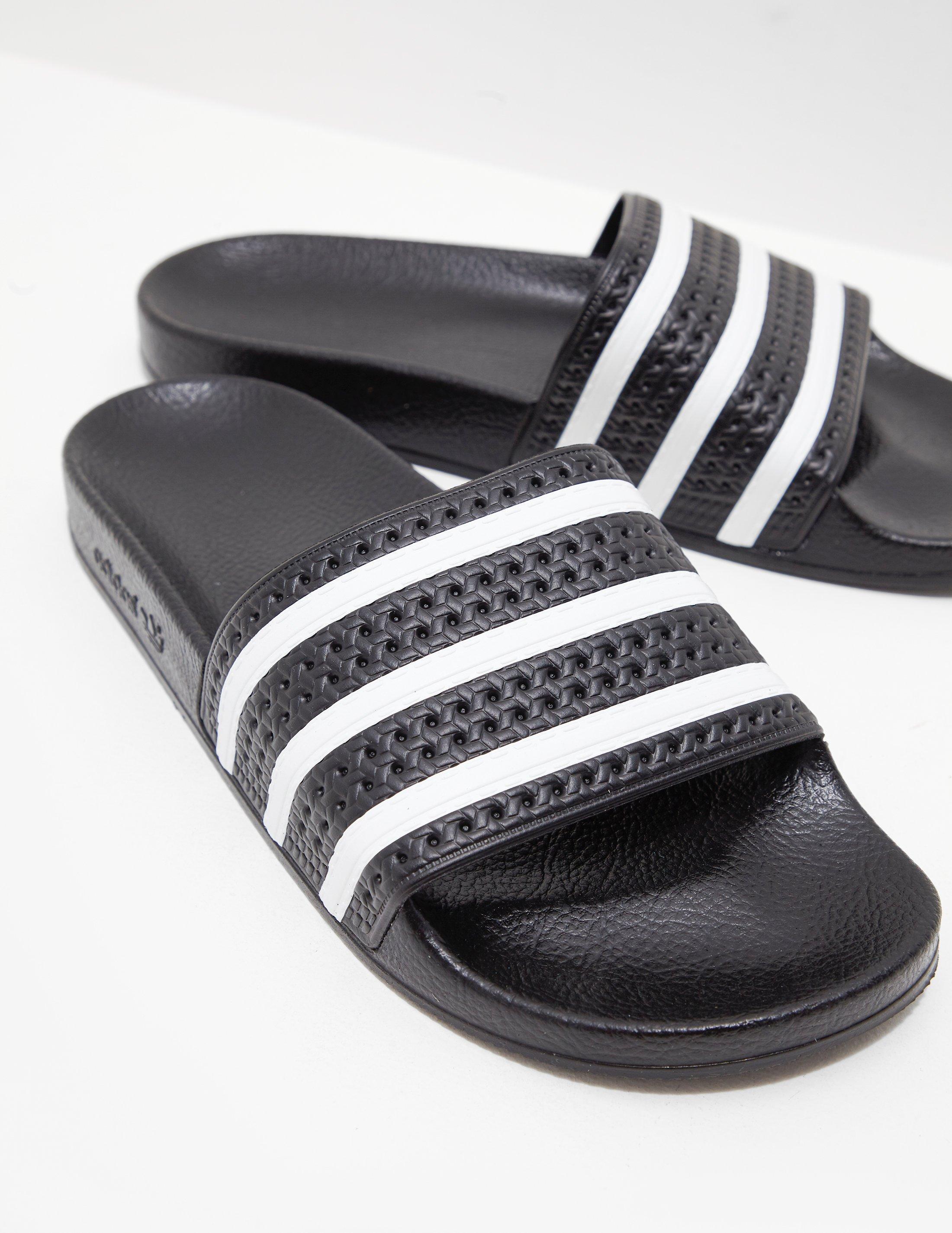 adefb3f9d7a414 Adidas Originals - Adilette Slides Black for Men - Lyst. View fullscreen