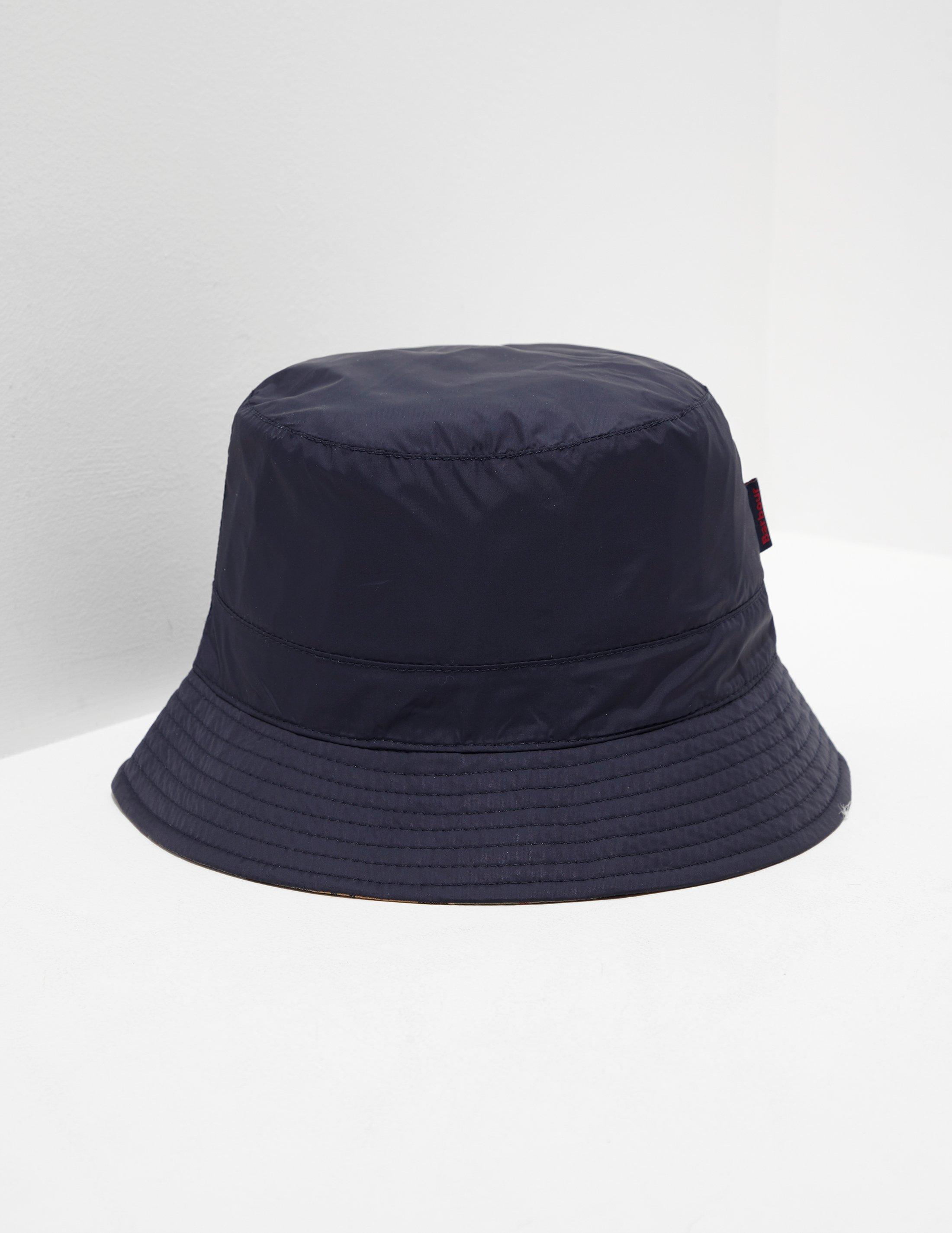 Lyst - Barbour Mens Reverse Tartan Bucket Hat Navy Blue in Blue for Men 1a0329d2098