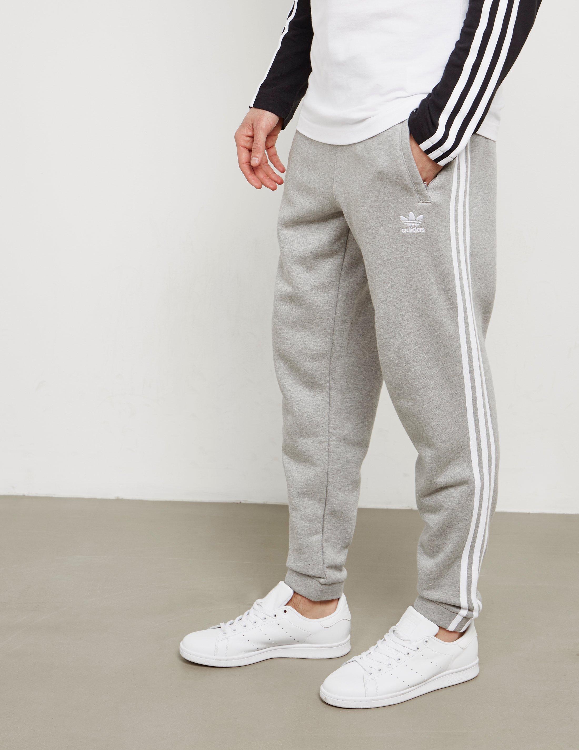 Lyst - adidas Originals Mens Trefoil Fleece Track Pants Grey in Gray ... 11072b92d
