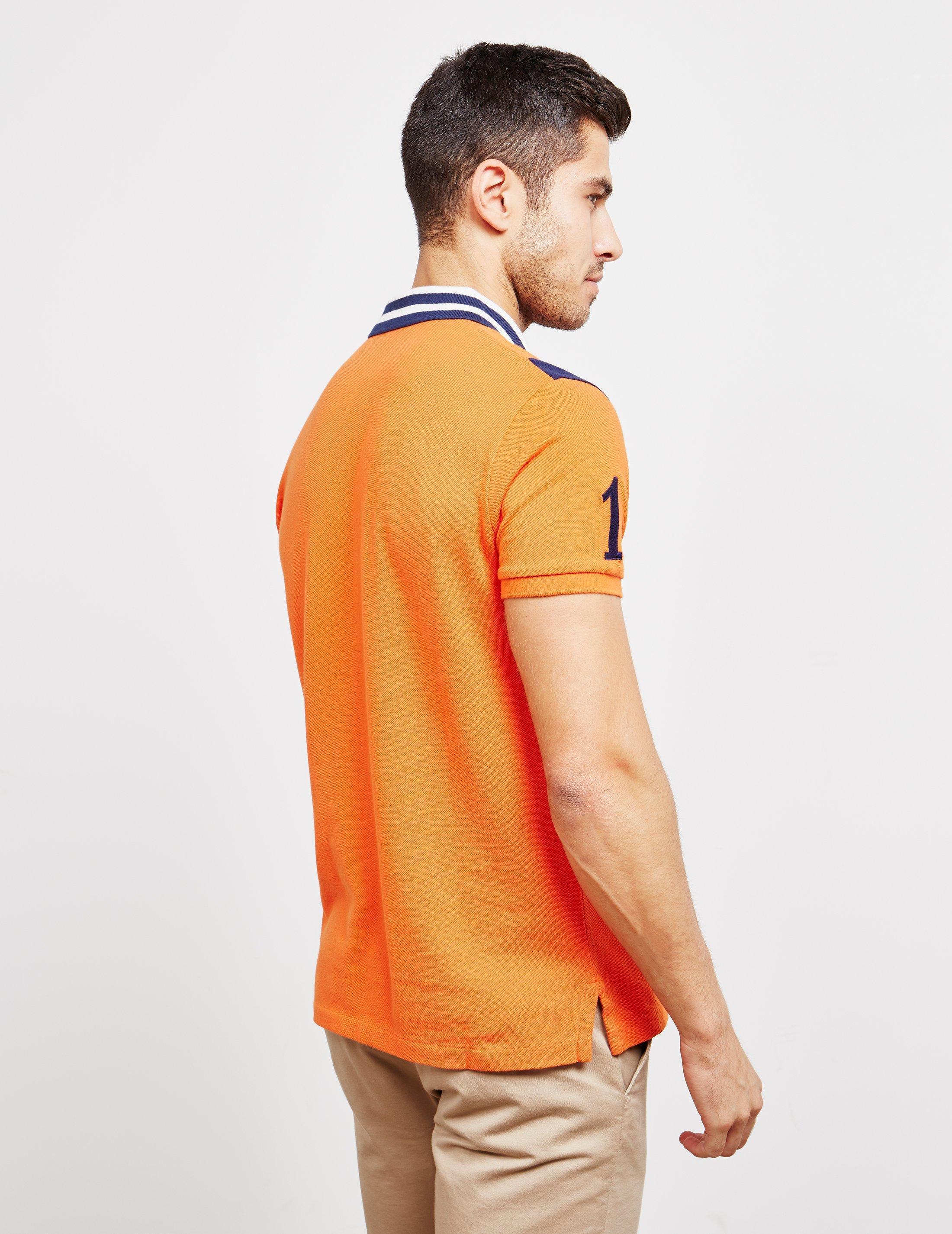 f7e60994 Polo Ralph Lauren - Embroidered Crest Short Sleeve Polo Shirt Orange for Men  - Lyst. View fullscreen