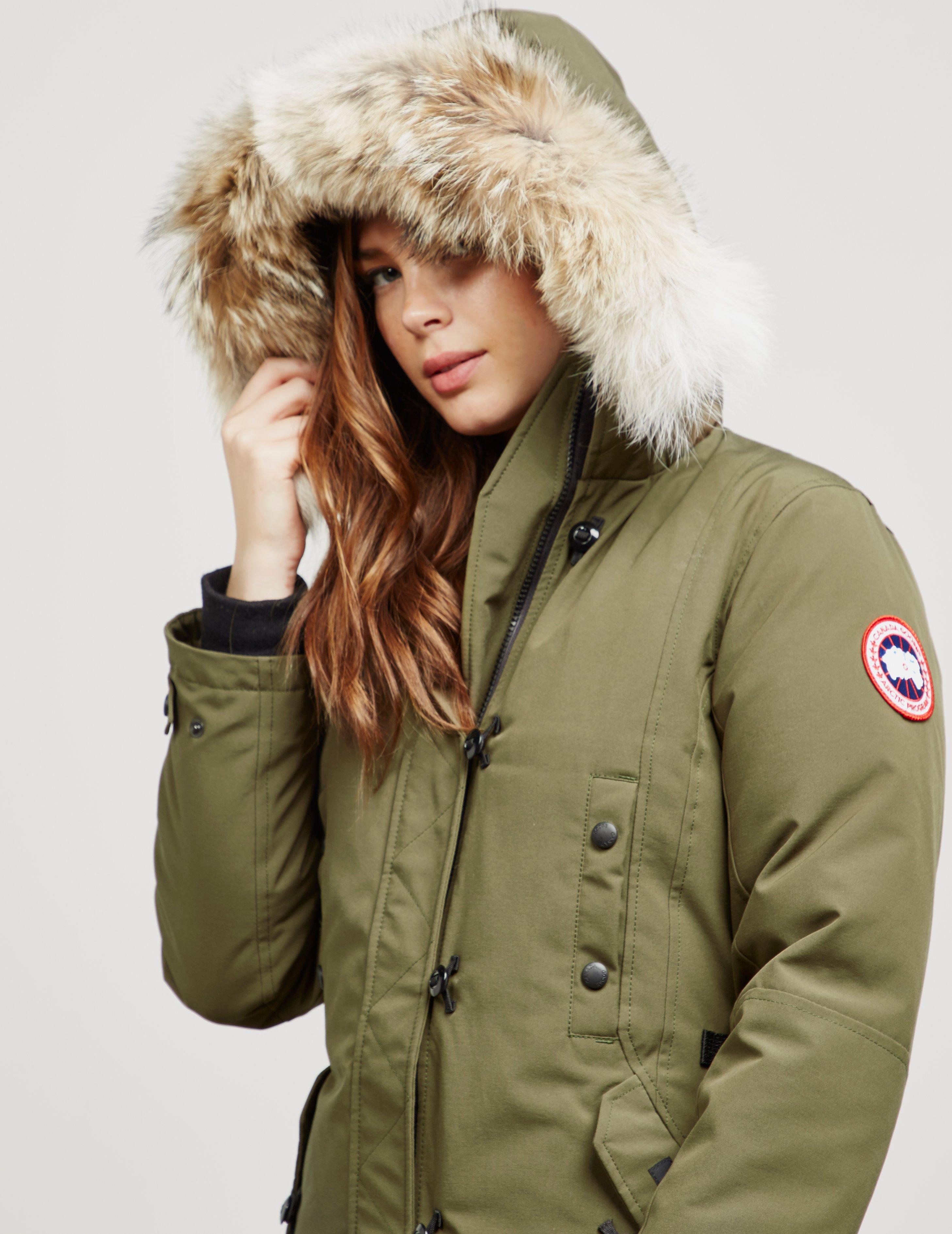 59df9da11d7 Parka Womens in Goose Kensington Padded Green Canada Jacket Lyst ...