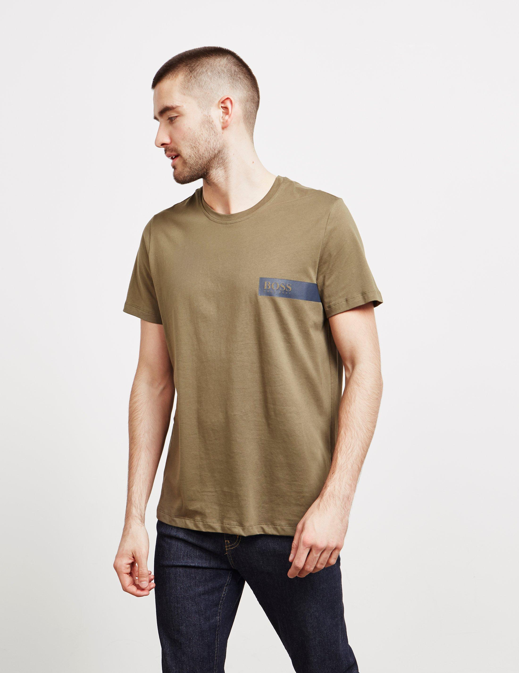 7a05c9bd BOSS - Chest Block Short Sleeve T-shirt Green for Men - Lyst. View  fullscreen