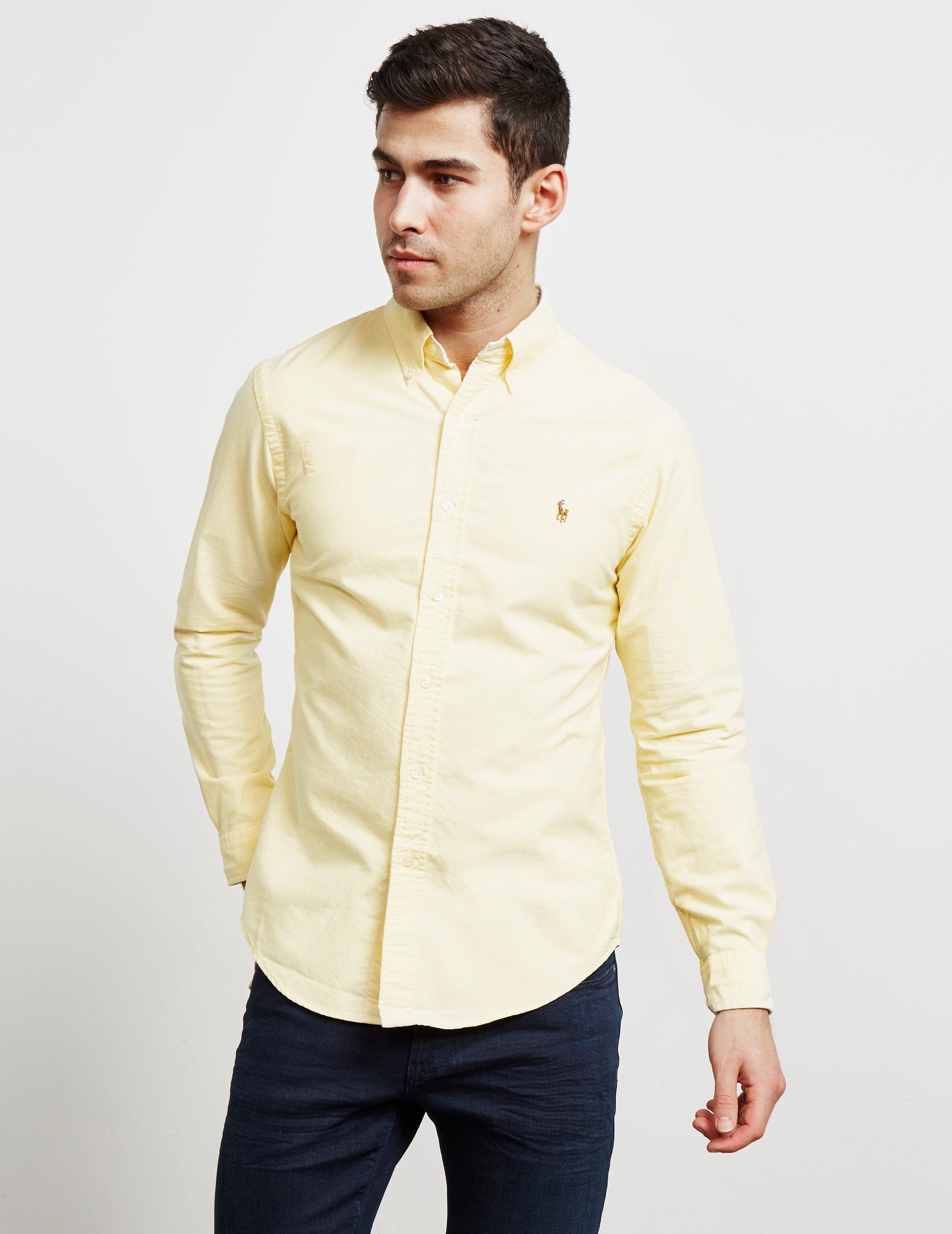 f467755ec3 Polo Ralph Lauren Mens Oxford Long Sleeve Shirt Yellow in Yellow for ...
