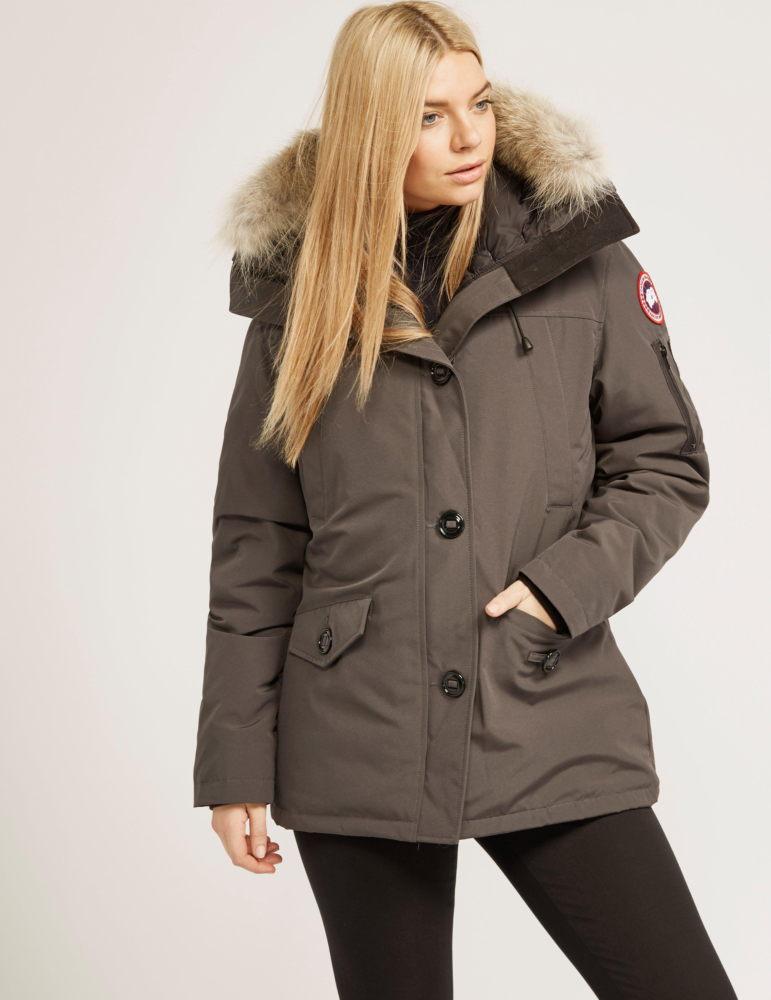 canada goose womens montebello padded parka jacket grey in gray lyst rh lyst co uk