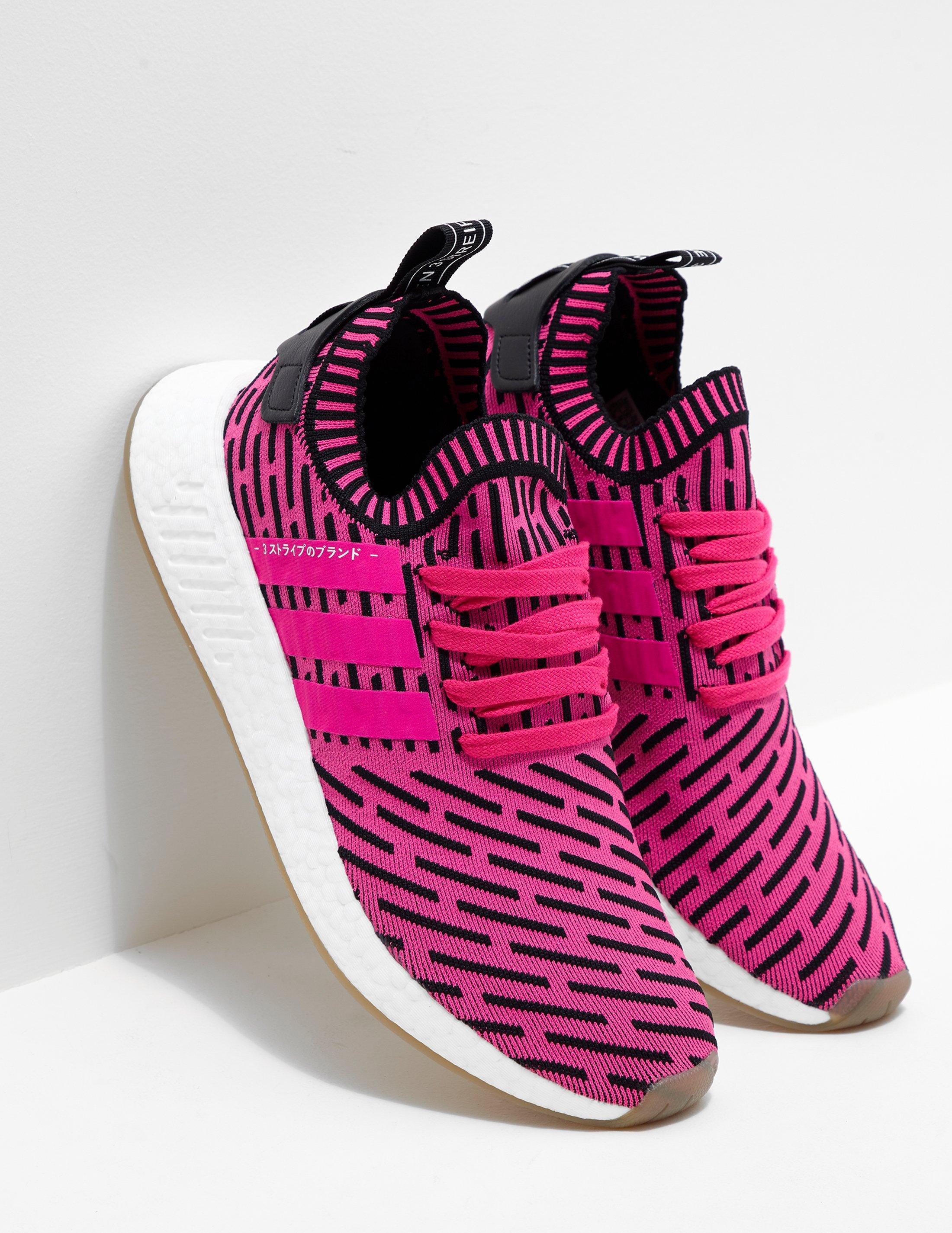Lyst Adidas Originali Uomo Nmd R2 Primeknit / Bianco, Rosa, Rosa / Bianco
