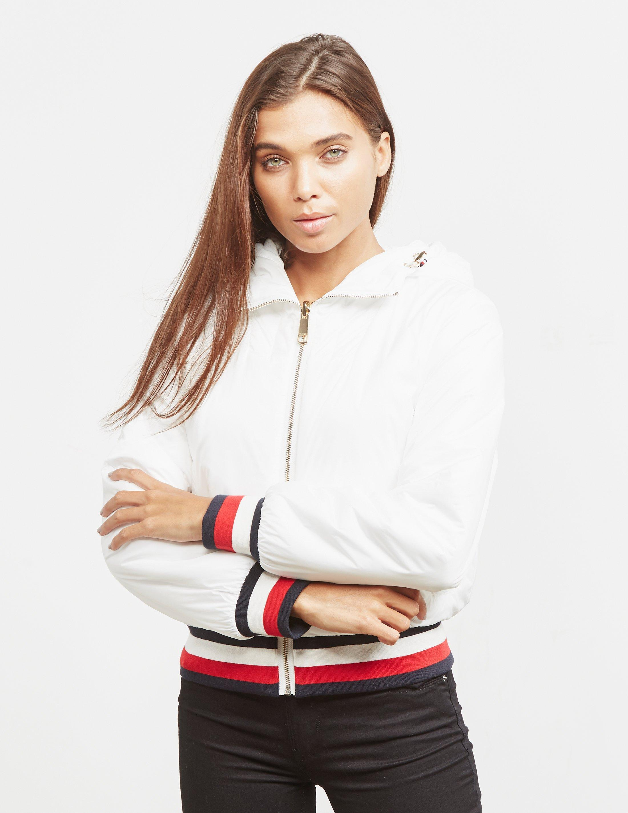cff18cb351c8 Tommy Hilfiger Annabel Terry Reversible Bomber Jacket White in White - Save  49% - Lyst