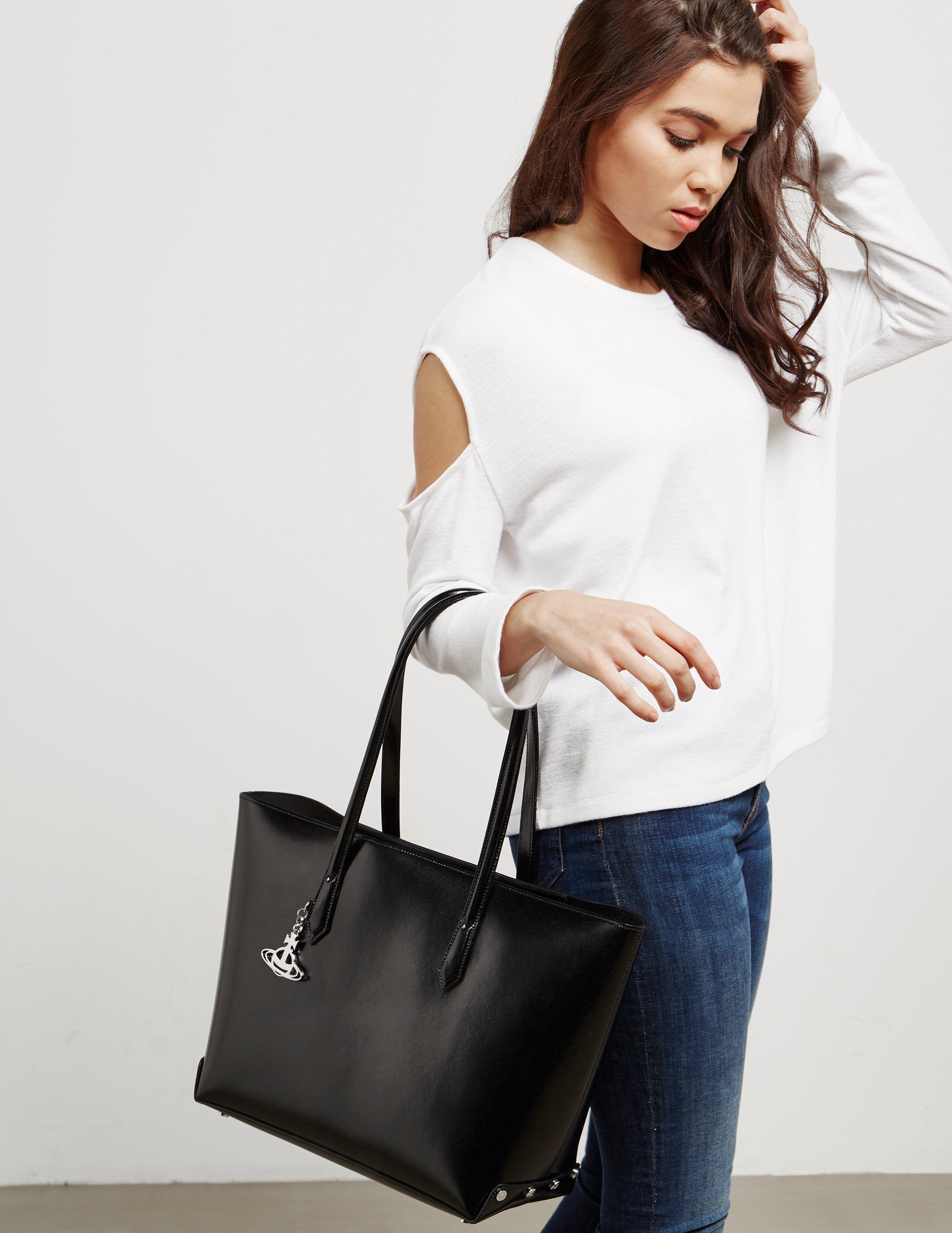 Vivienne Westwood Womens Sarah Large Shopper Bag Black In Lyst Tote Mc