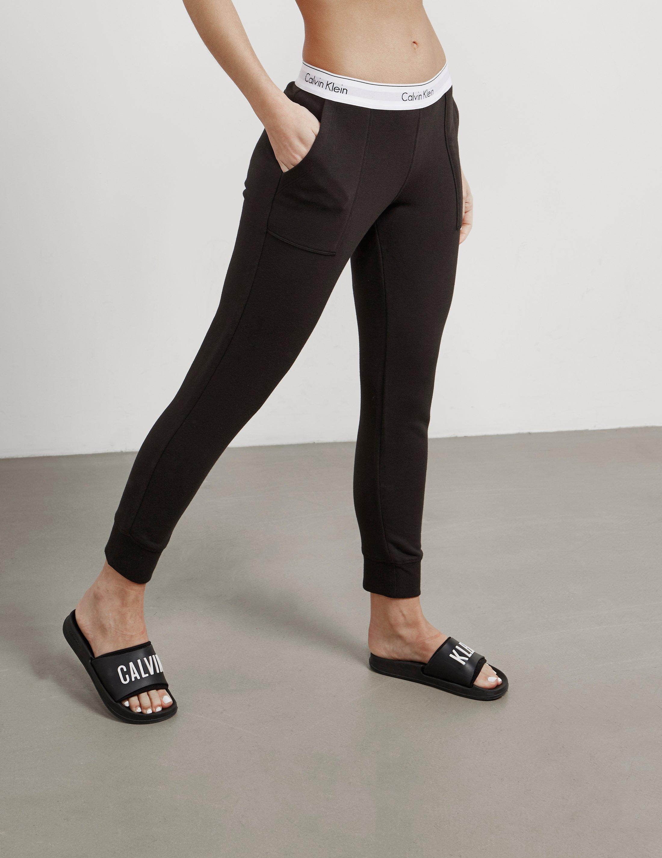 b4a9808ac1 Lyst - Calvin Klein Womens Fleece Pants Black in Black - Save ...