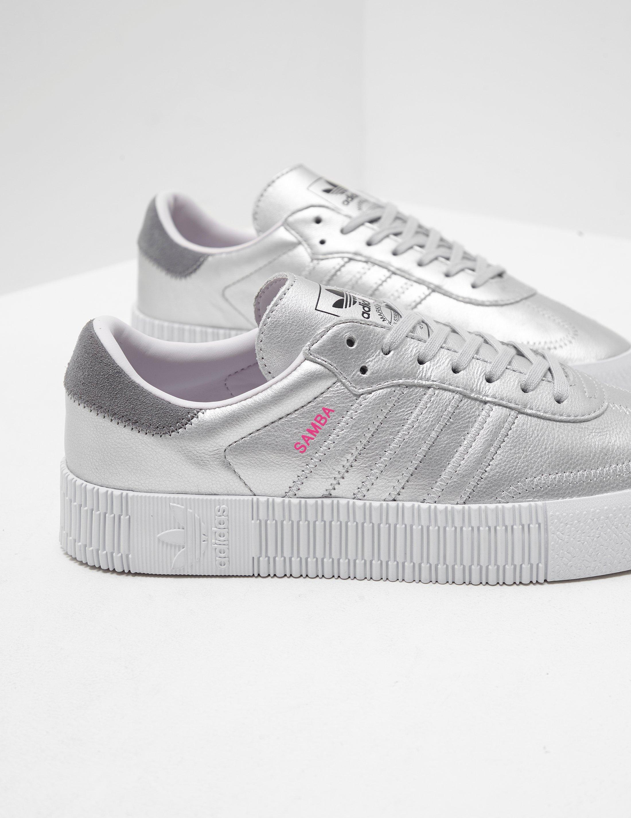 aa93a025198 adidas Originals Womens Samba Rose Metallic Women s Silver in ...