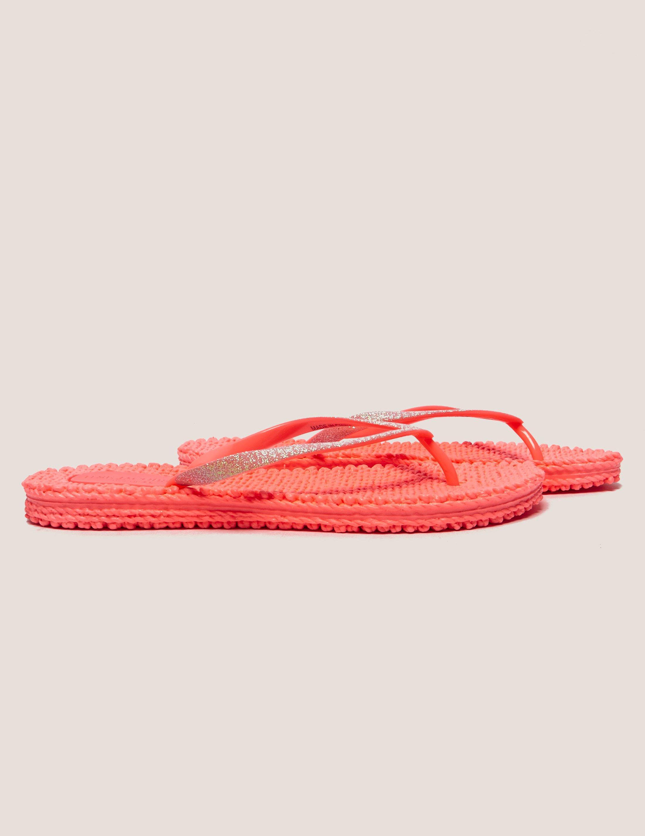 6fdd0c6c702f Ilse Jacobsen Womens Glitter Flip Flops Pink pink