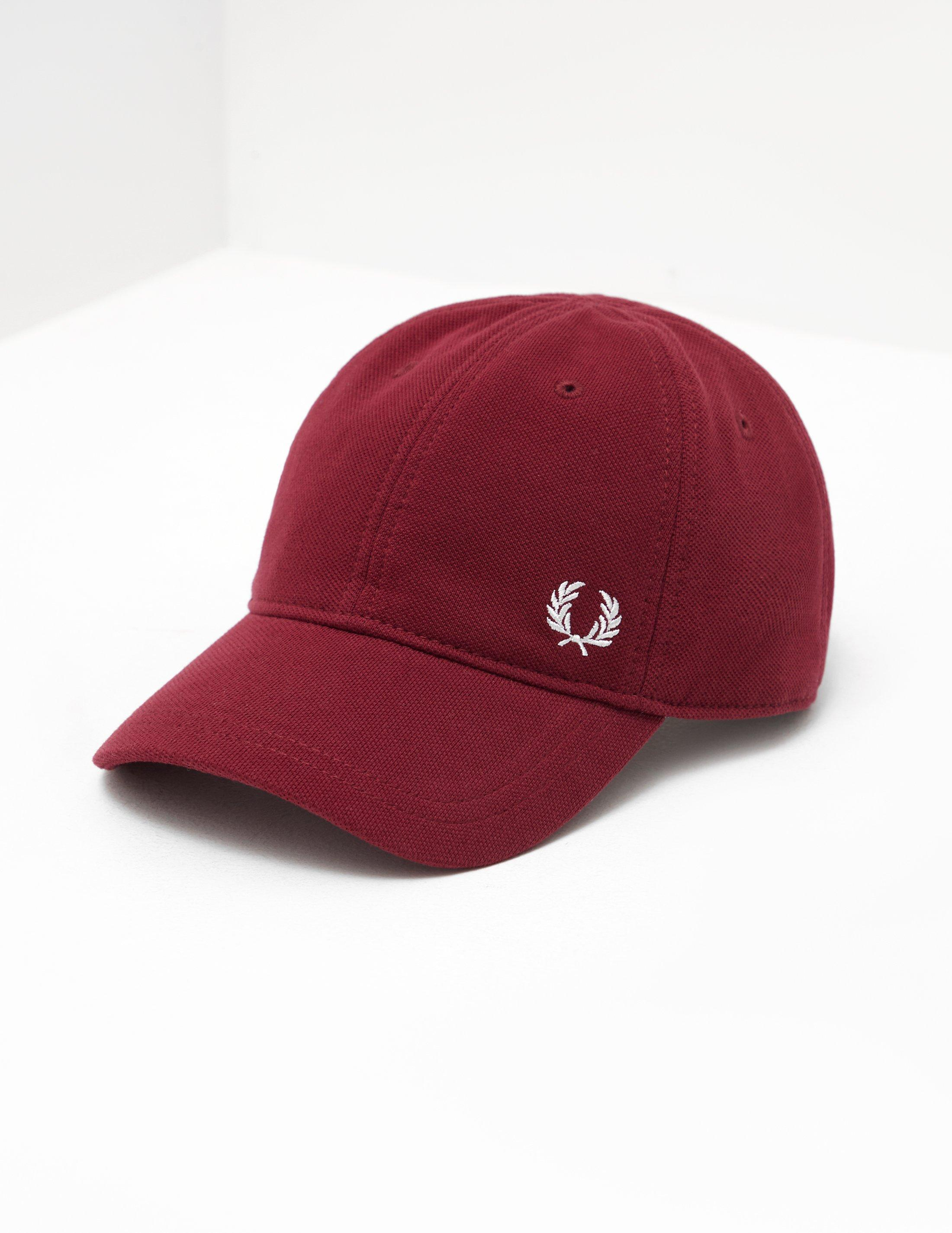 058a27116 Fred Perry Crest Cap Burgundy/burgundy in Red for Men - Lyst
