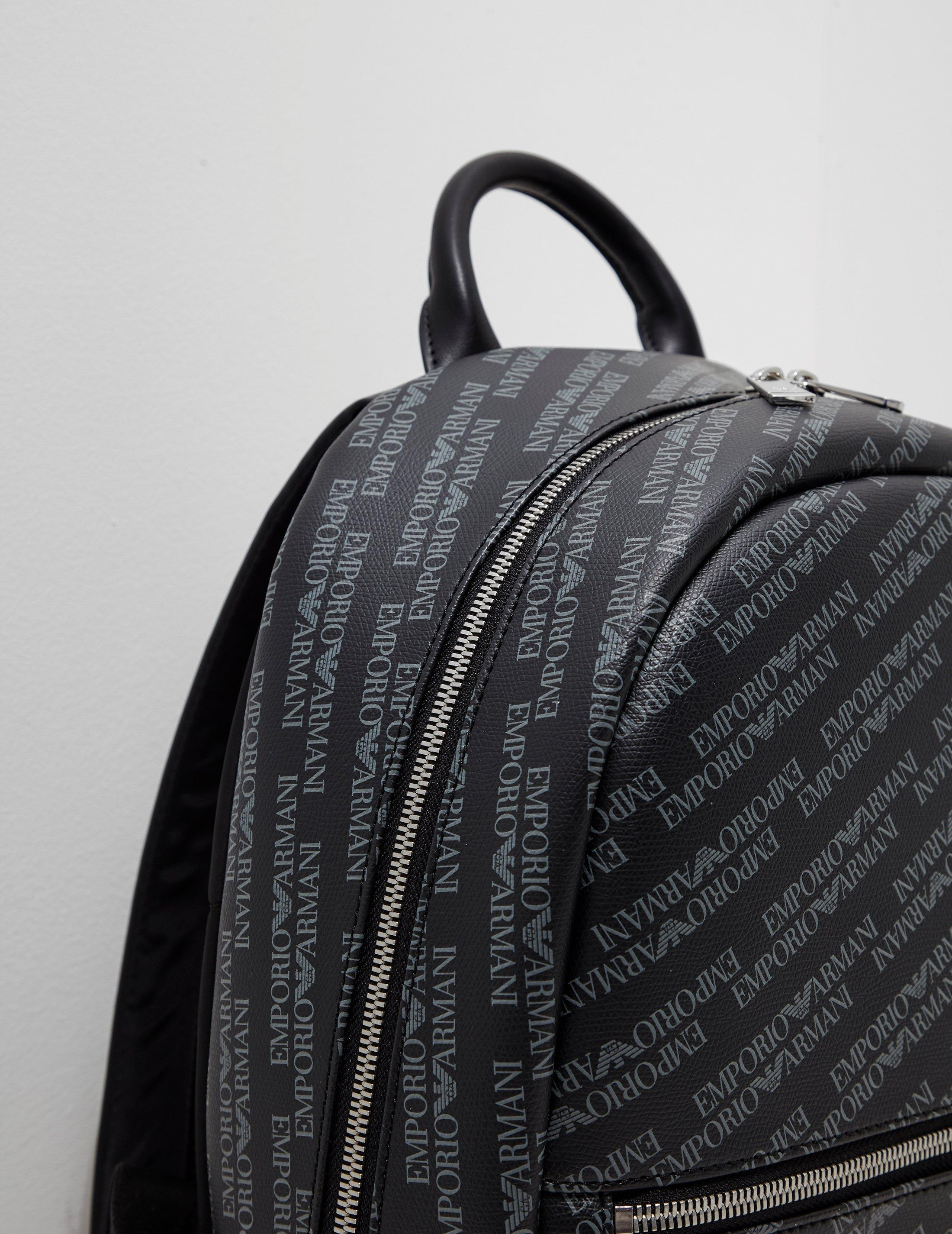 Lyst - Emporio Armani Mens All Over Print Backpack Black in Black ... 1f9c6c68aa