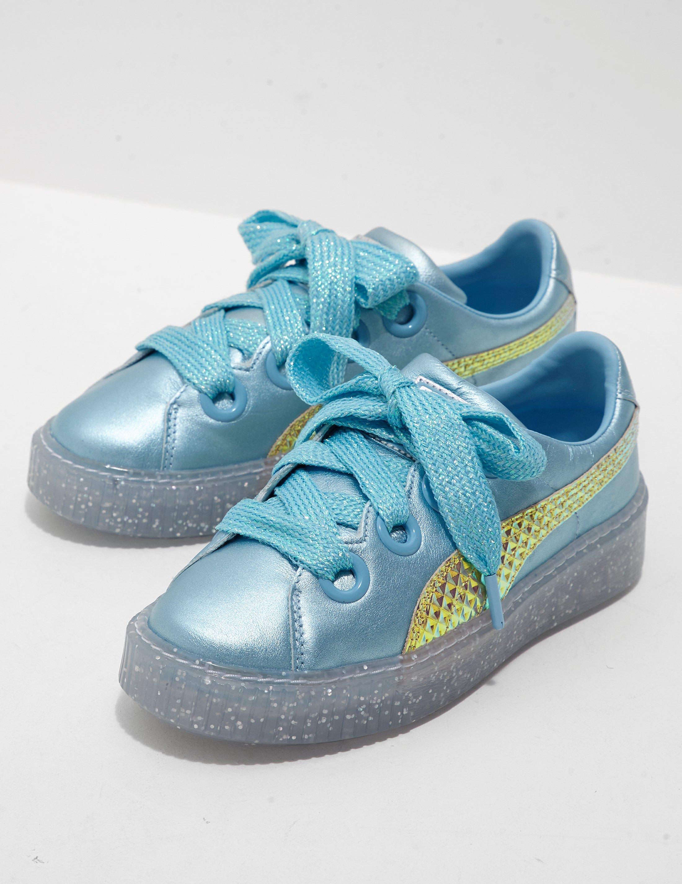 Glitter Baskets Princesse Plateforme - Bleu X Pumas Sophia Webster C4A4LNLw
