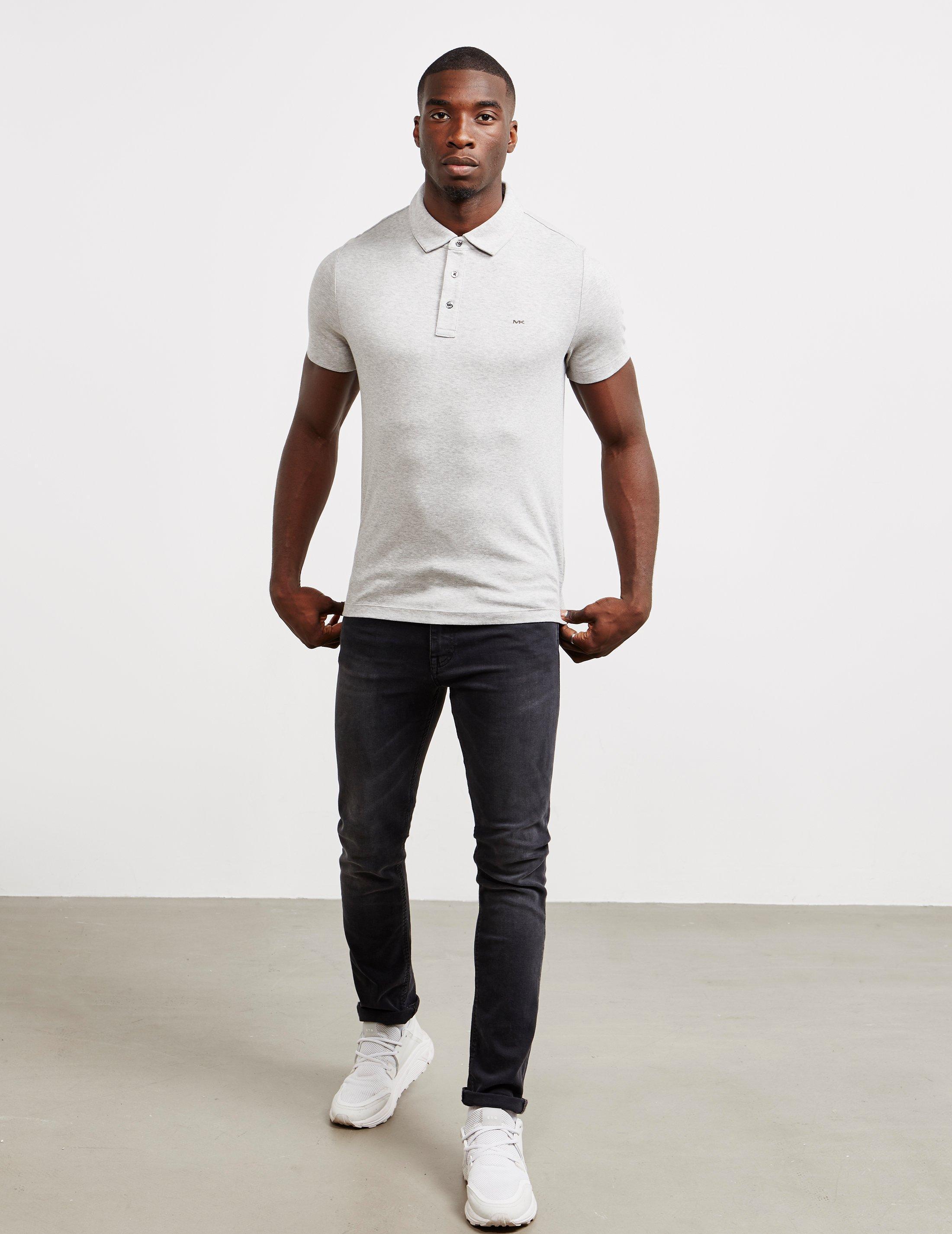 1823309cd Michael Kors Sleek Short Sleeve Polo Shirt Grey in Gray for Men - Lyst