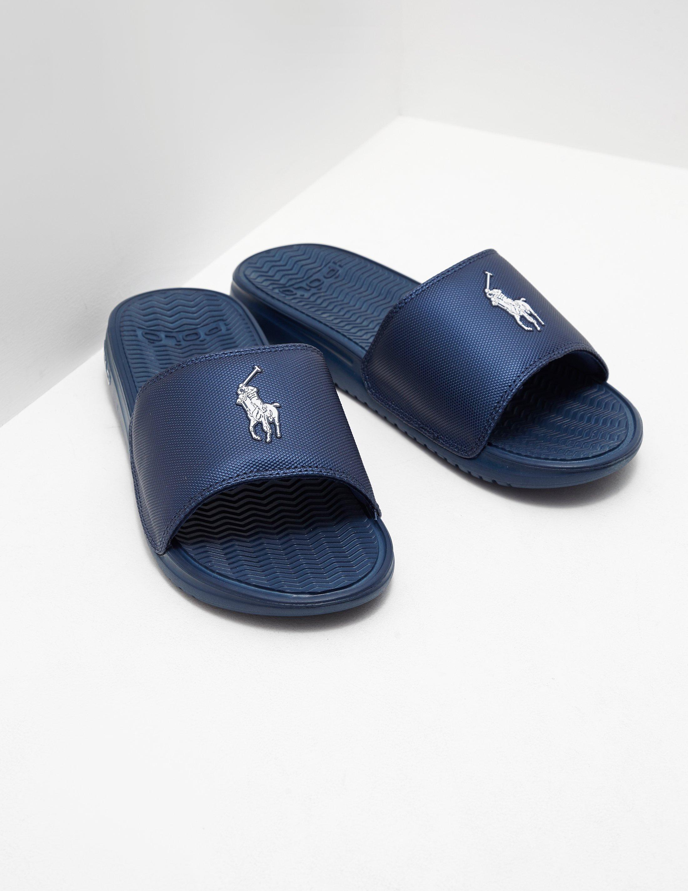 18af0785aaef Polo Ralph Lauren Rodwell Slide Sandal in Blue for Men - Save 43% - Lyst