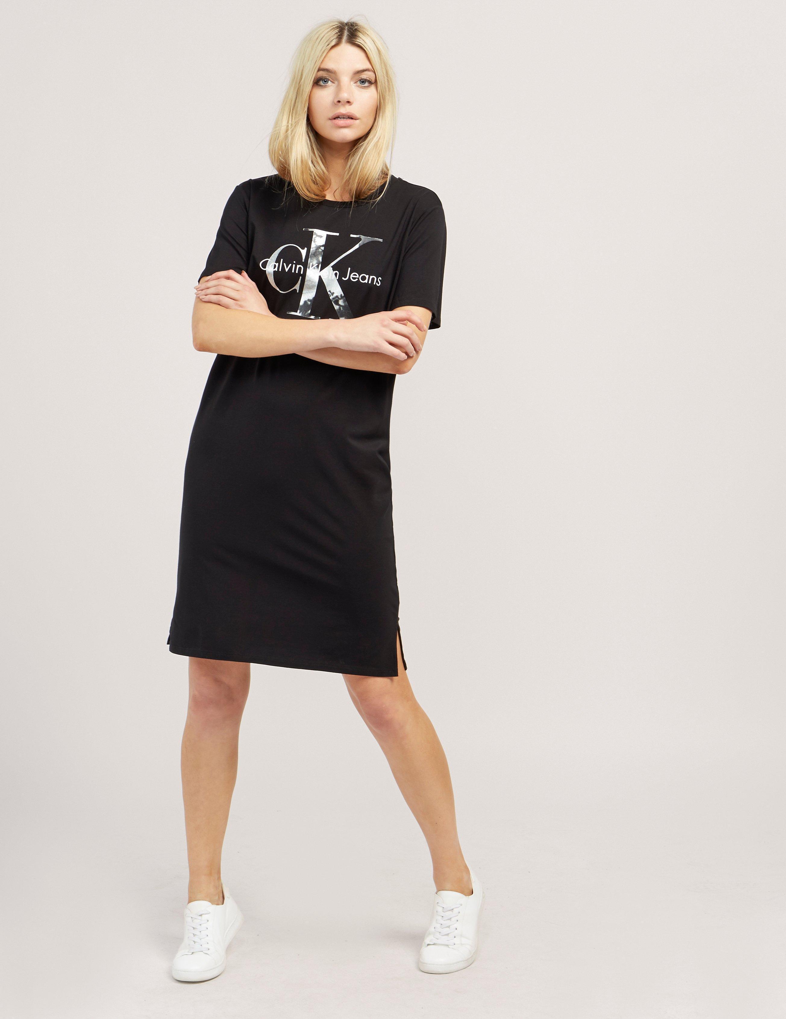 b2f28f41cc ... Lyst Calvin Klein Dakota Icon T shirt Dress in Black