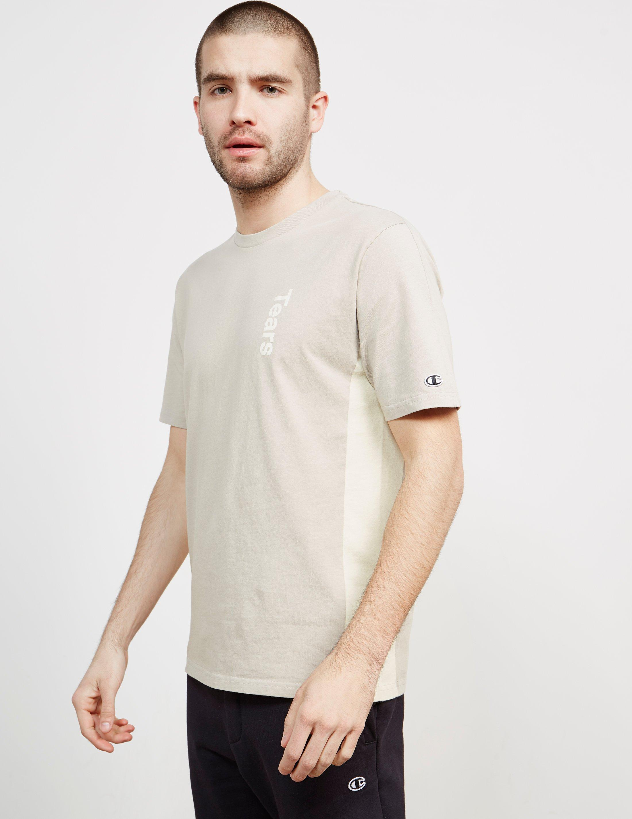 65165115d952 Champion Mens X Wood Wood Tears Short Sleeve T-shirt Taupe taupe for ...