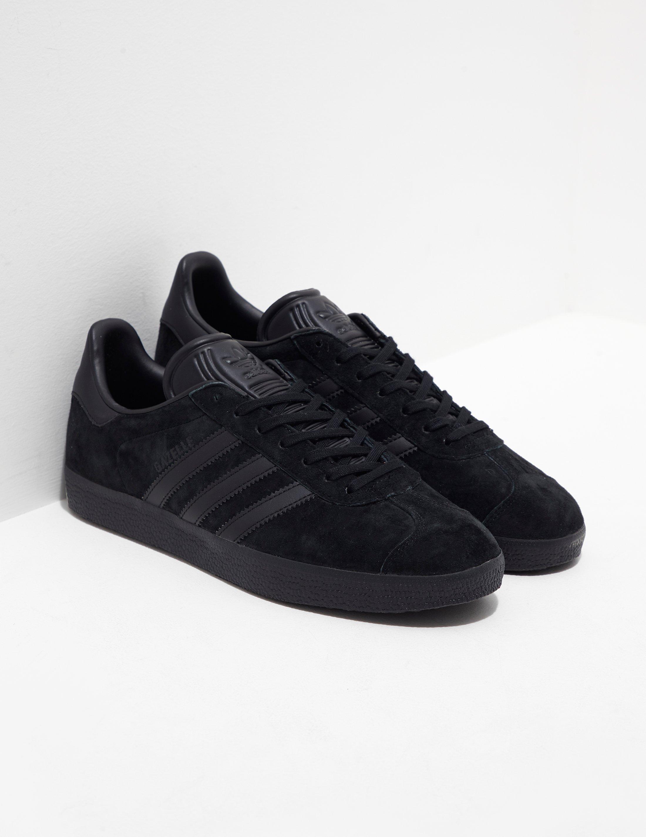 c09a17f6ea adidas Originals Gazelle Black in Black for Men - Lyst
