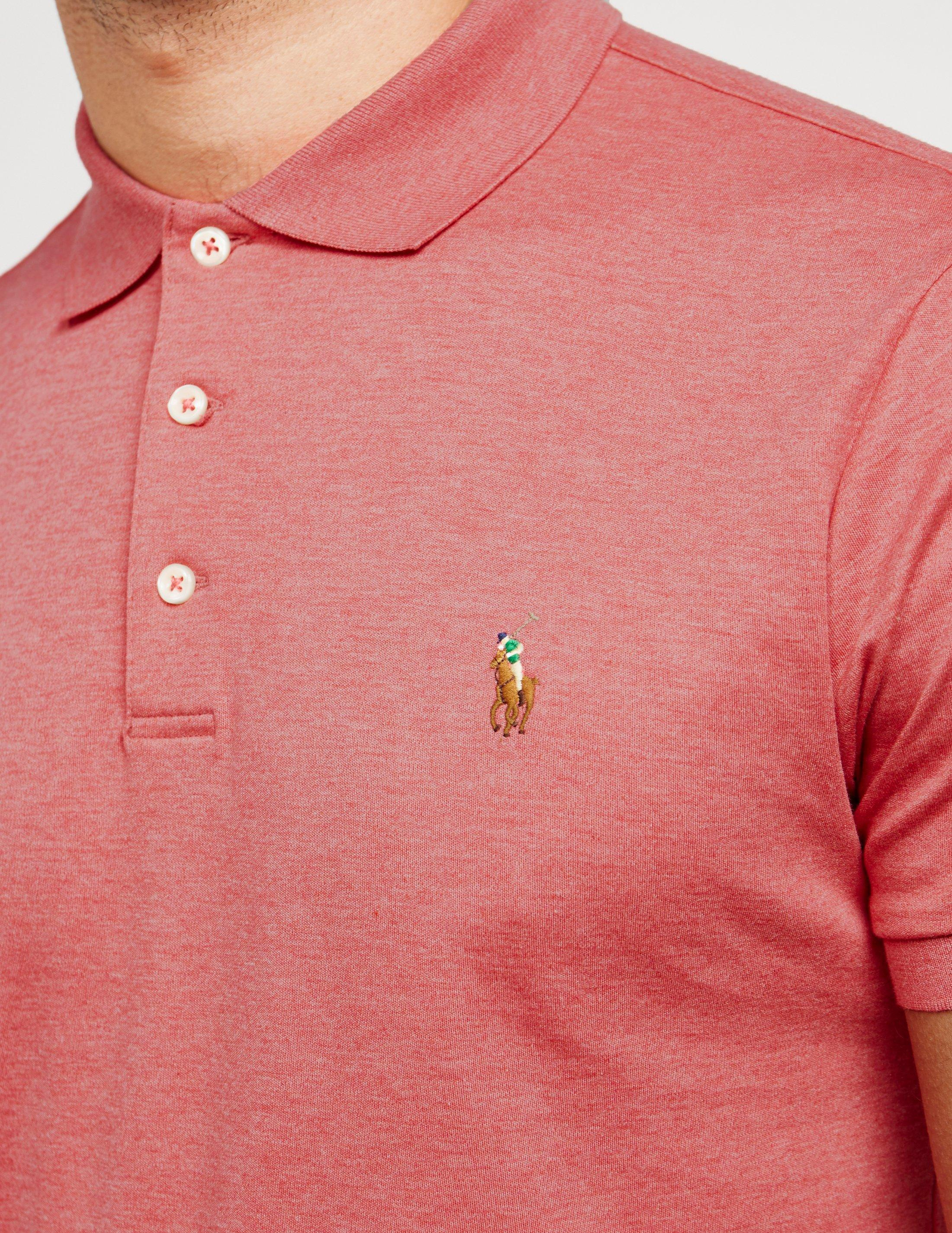 85c96770 Polo Ralph Lauren Pima Short Sleeve Polo Shirt Pink in Pink for Men ...