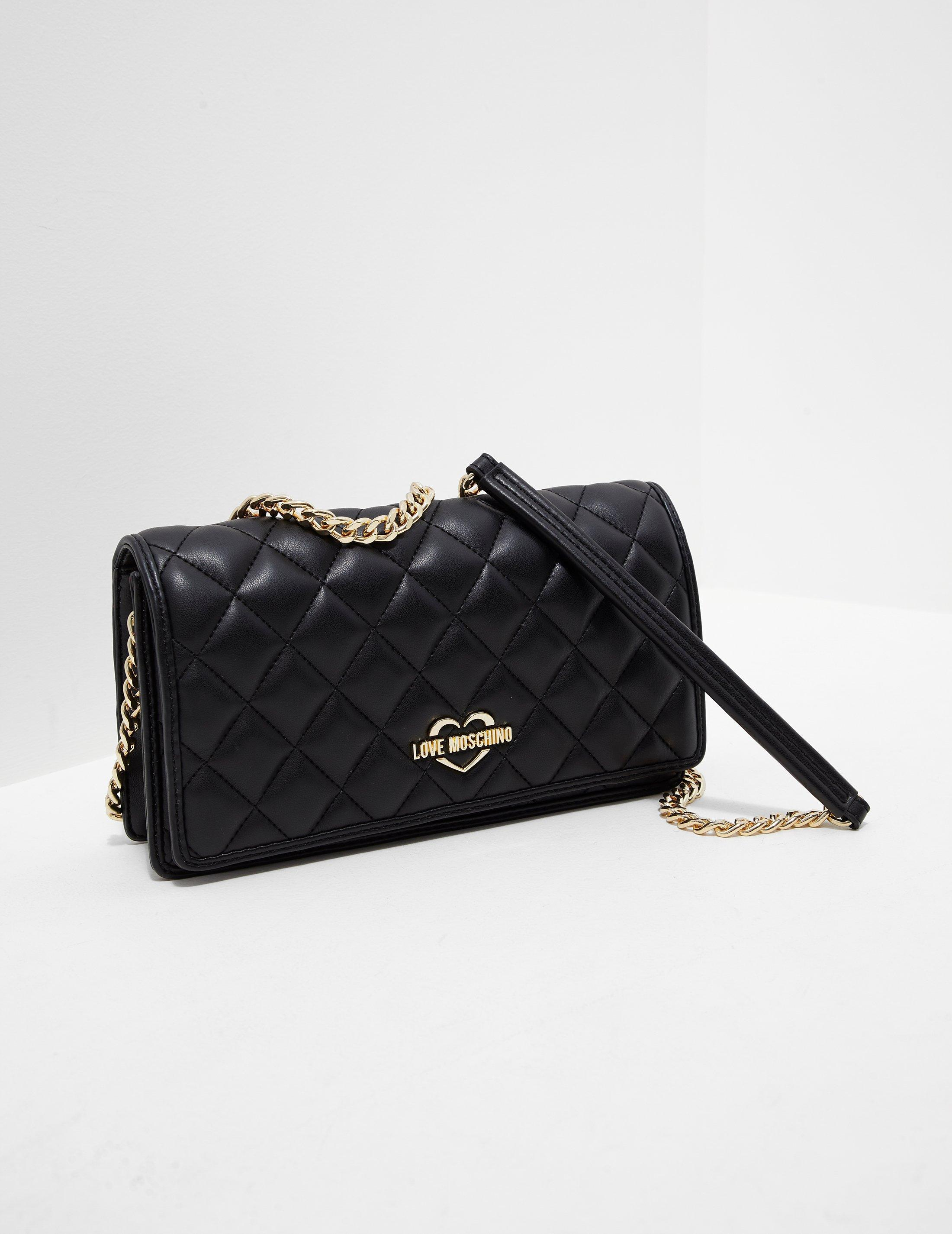 3c96cd3dd49c Lyst - Love Moschino Womens Small Quilted Clutch Bag Black in Black