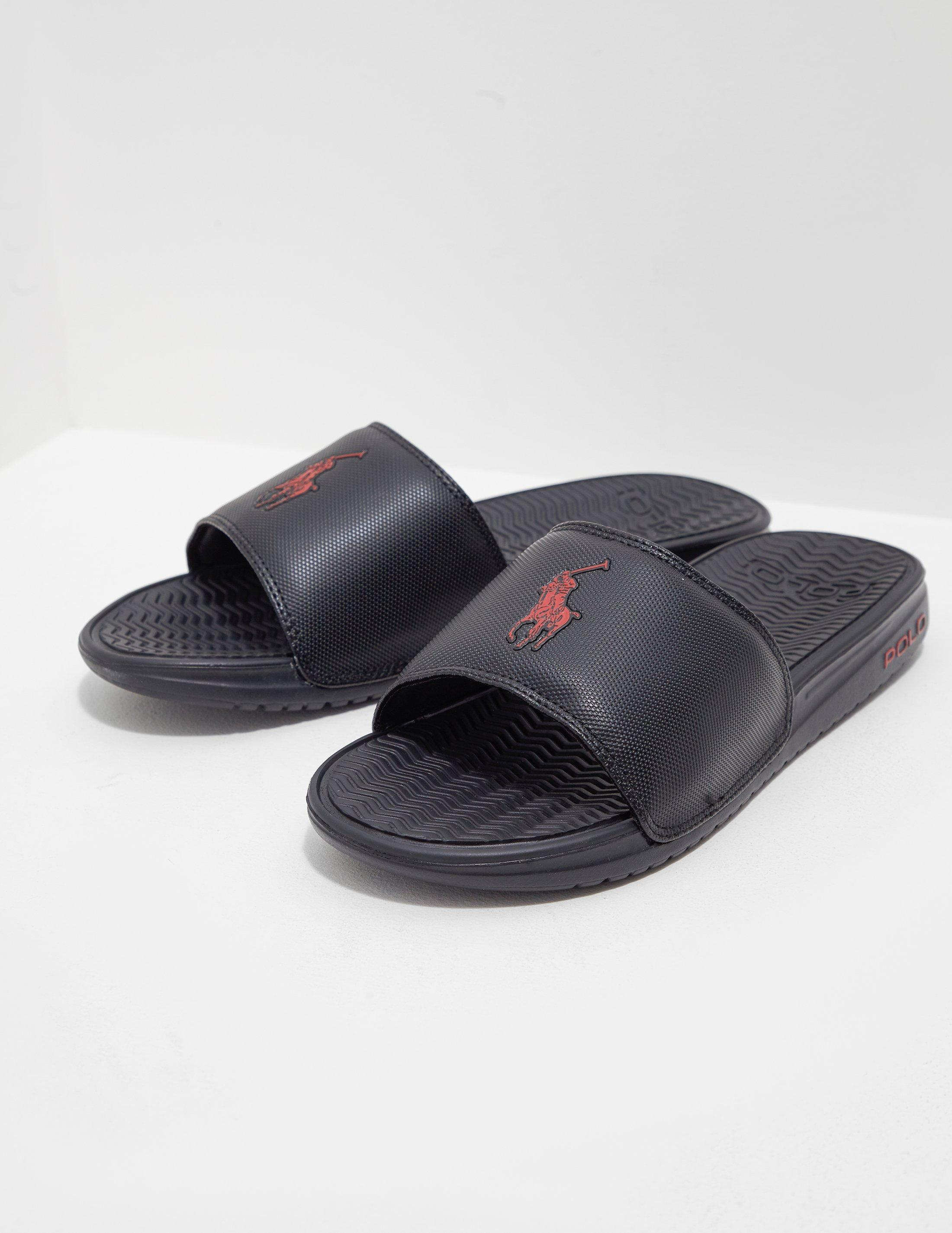 6f7d5988c3a1 Polo Ralph Lauren Rodwell Slide Sandal in Black for Men - Save 43 ...