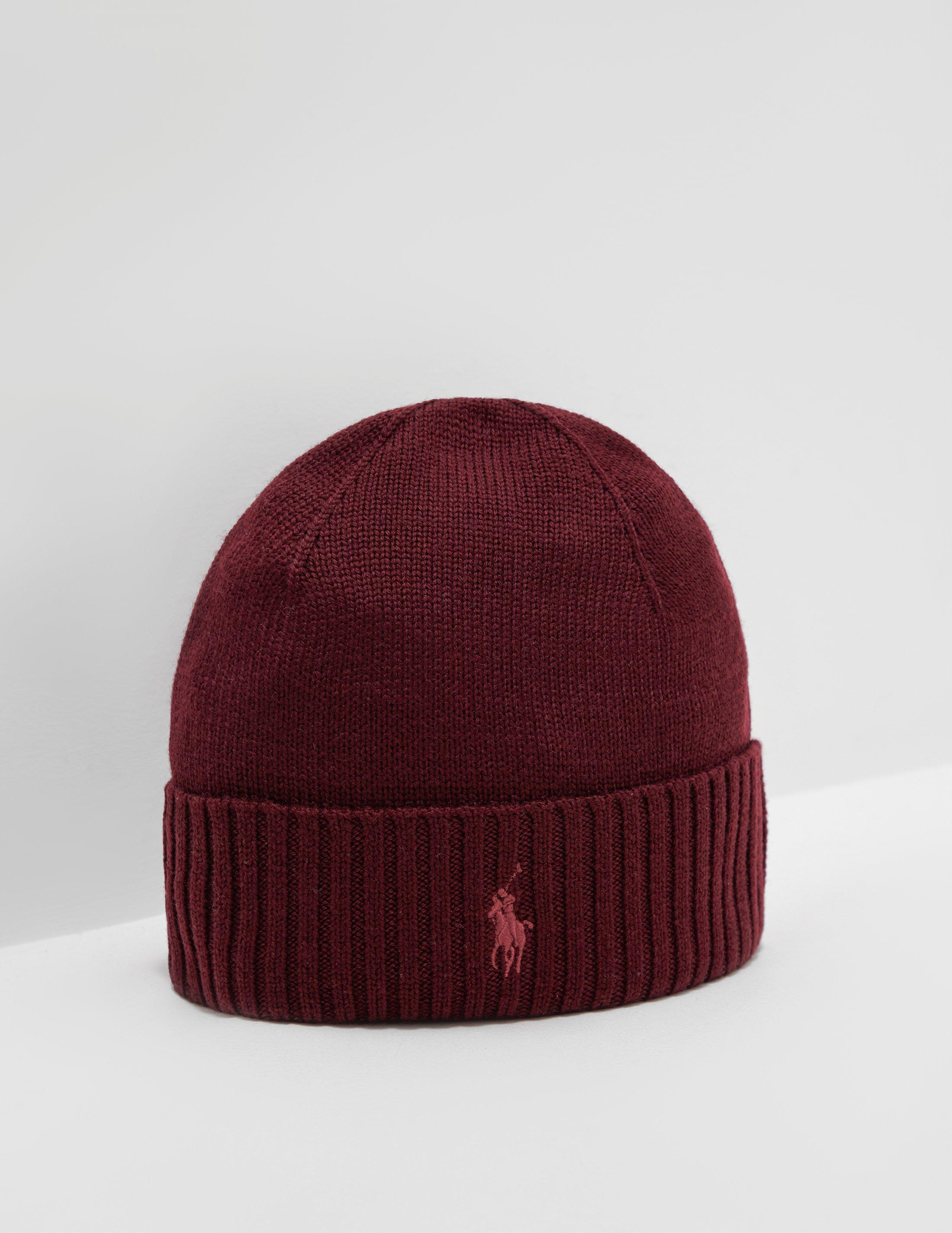 Polo Ralph Lauren Mens Logo Beanie Red in Red for Men - Lyst a3688ee37cc