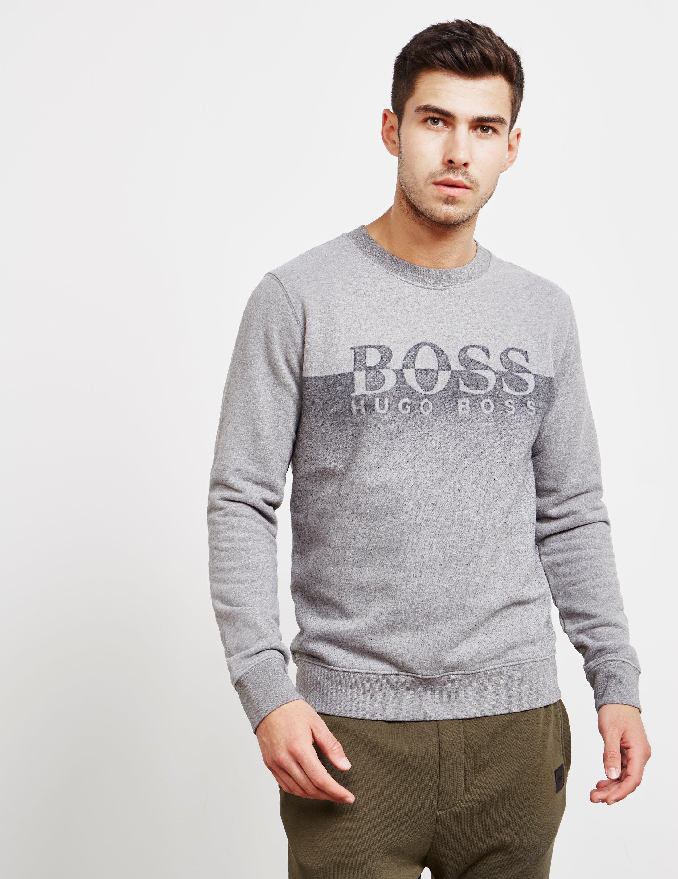 9a4e0c49e Boss Mens Withmore Split Sweatshirt Grey in Gray for Men - Lyst