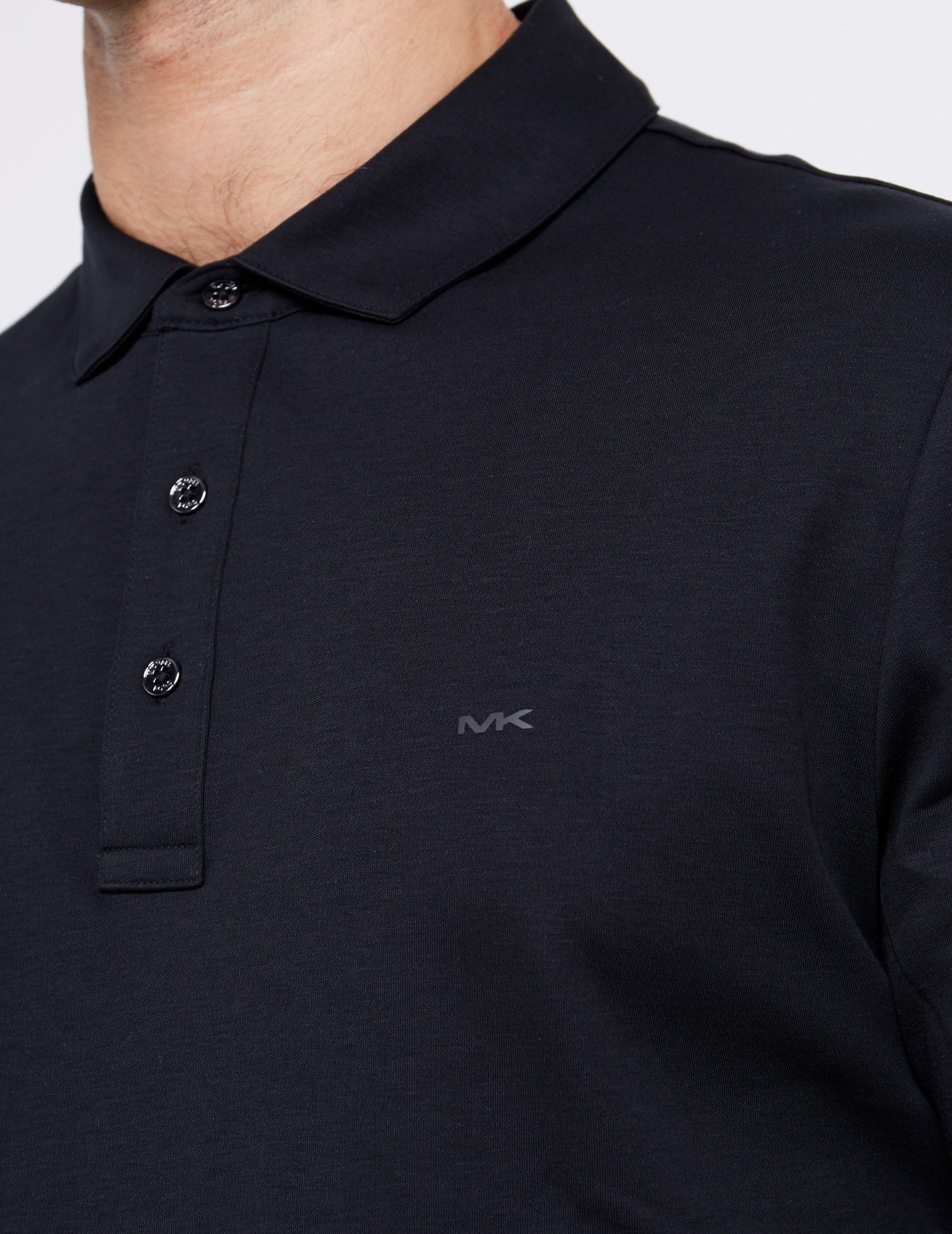 e6c26b86 Michael Kors - Sleek Long Sleeve Polo Shirt Black for Men - Lyst. View  fullscreen