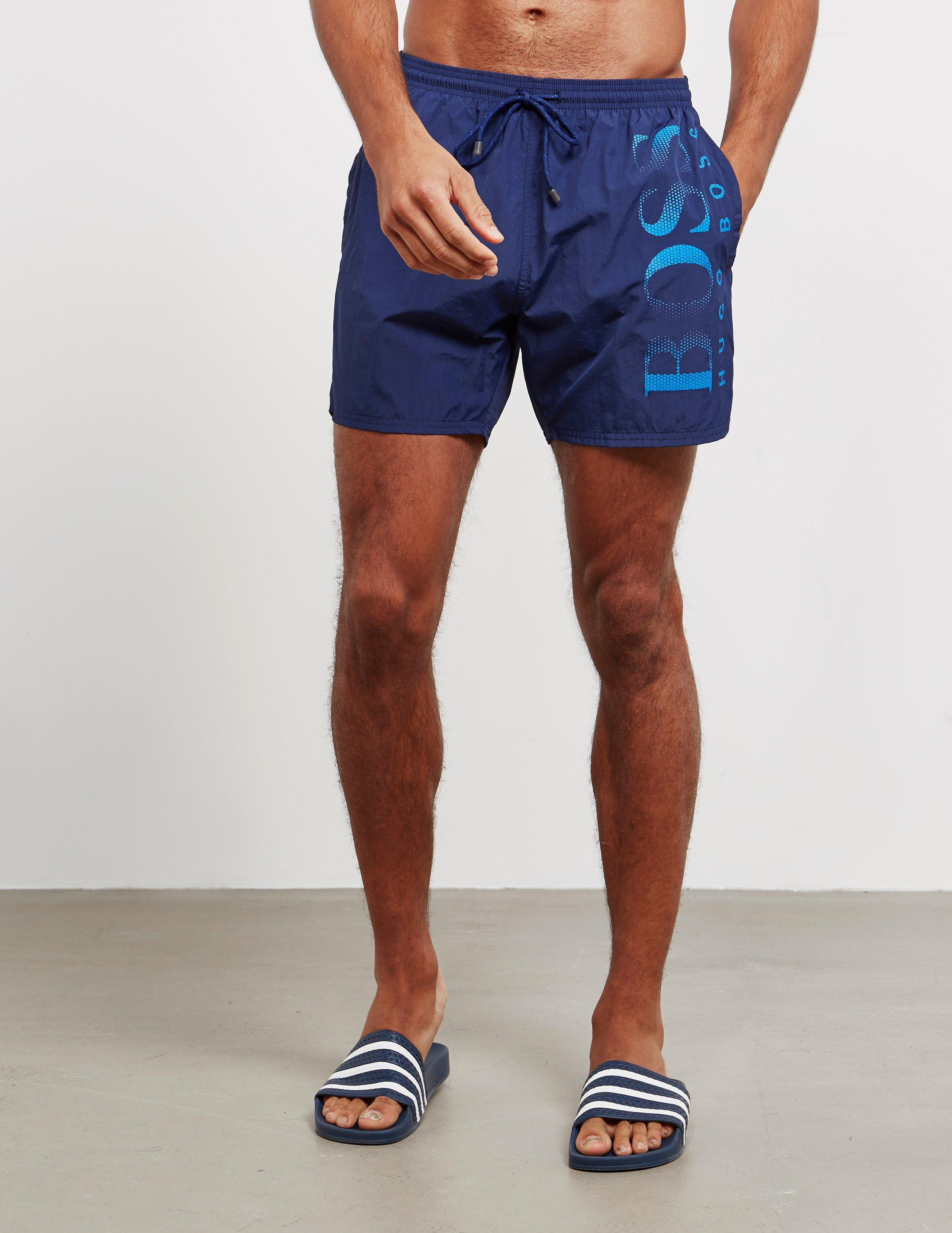 77838f312fd32 BOSS Octopus Swim Shorts Navy Blue in Blue for Men - Lyst
