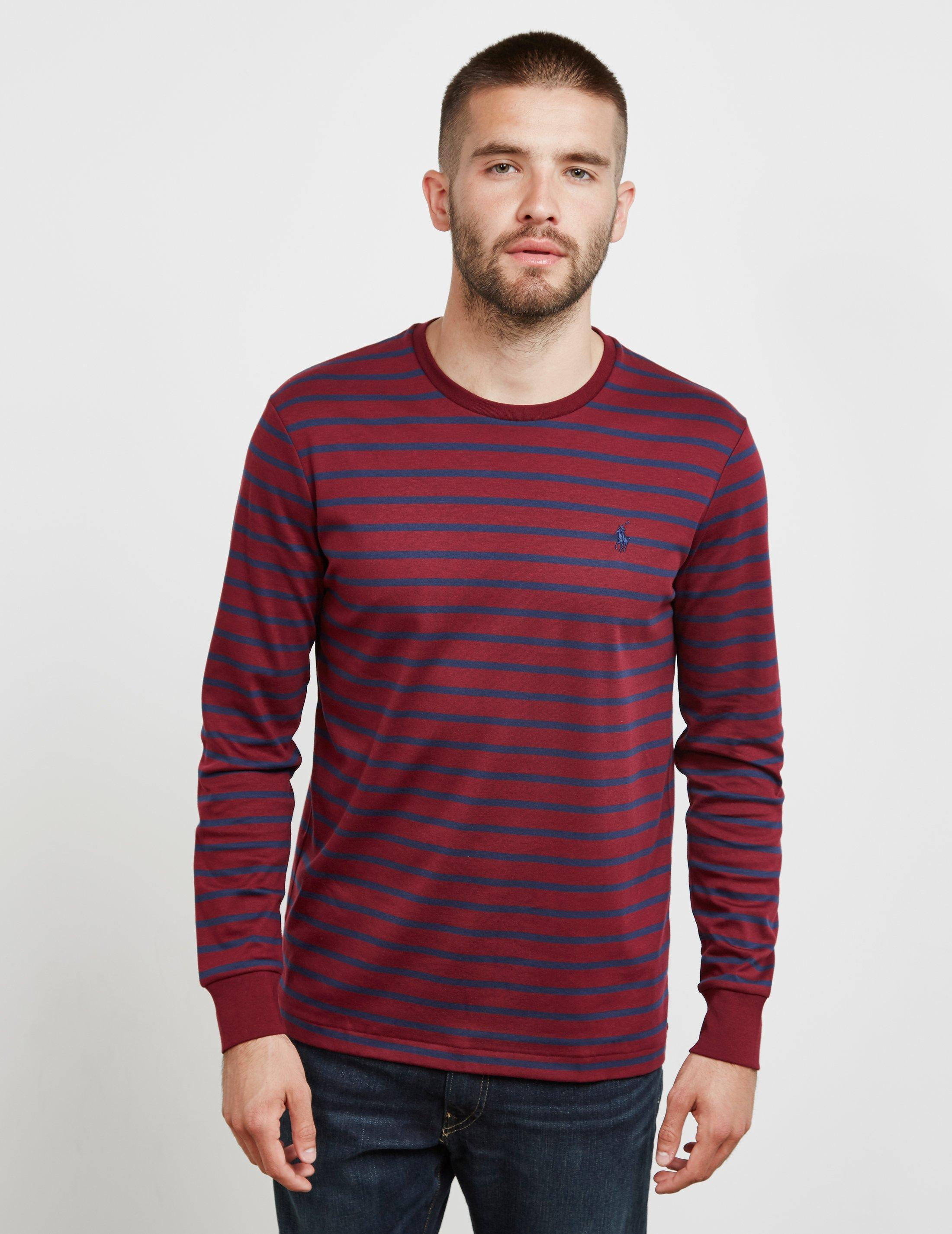 94776ff80533 Polo Ralph Lauren Stripe Long Sleeve T-shirt Red in Red for Men ...
