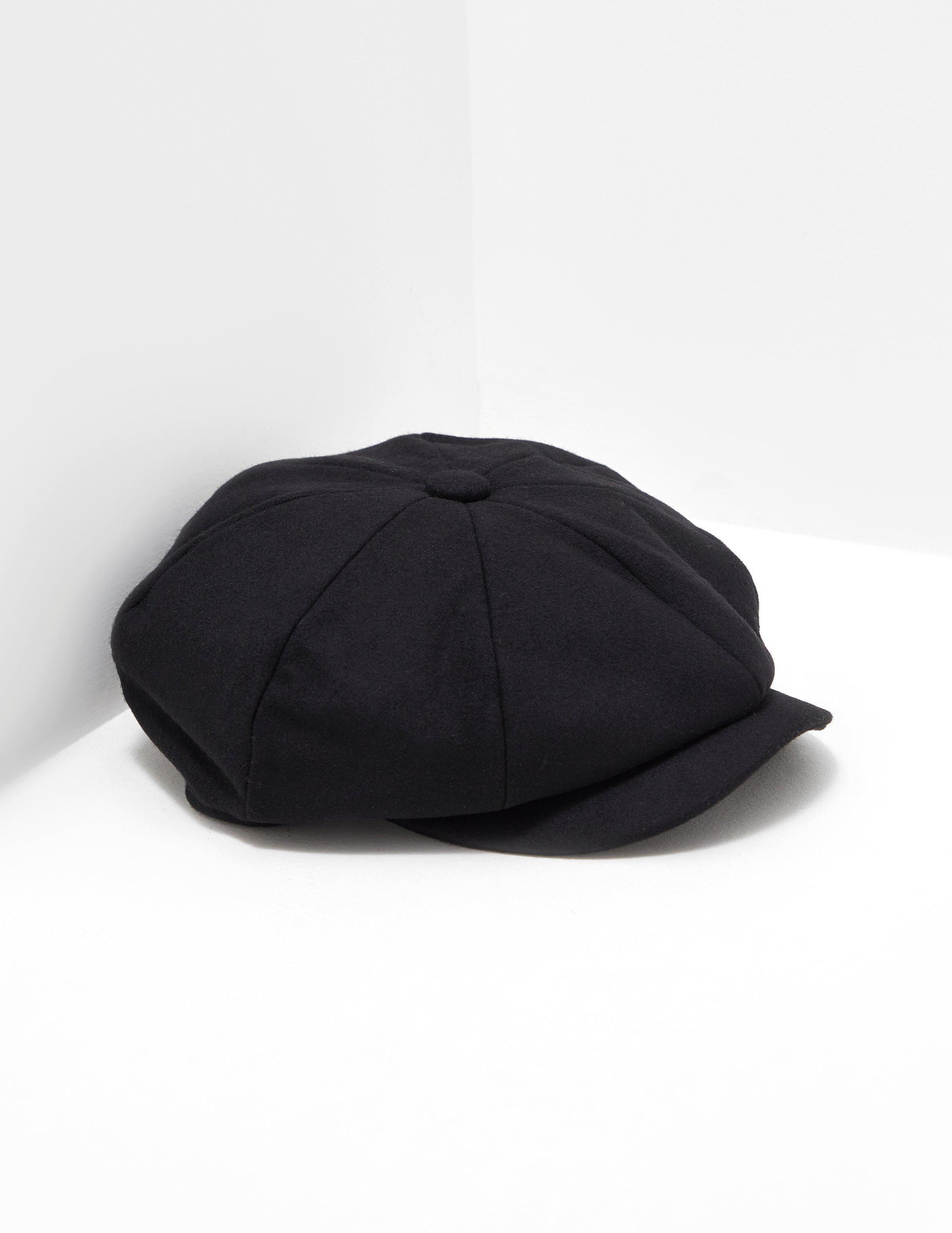 0a542a56704 Barbour Mens Melton Baker Boy Hat Black in Black for Men - Lyst