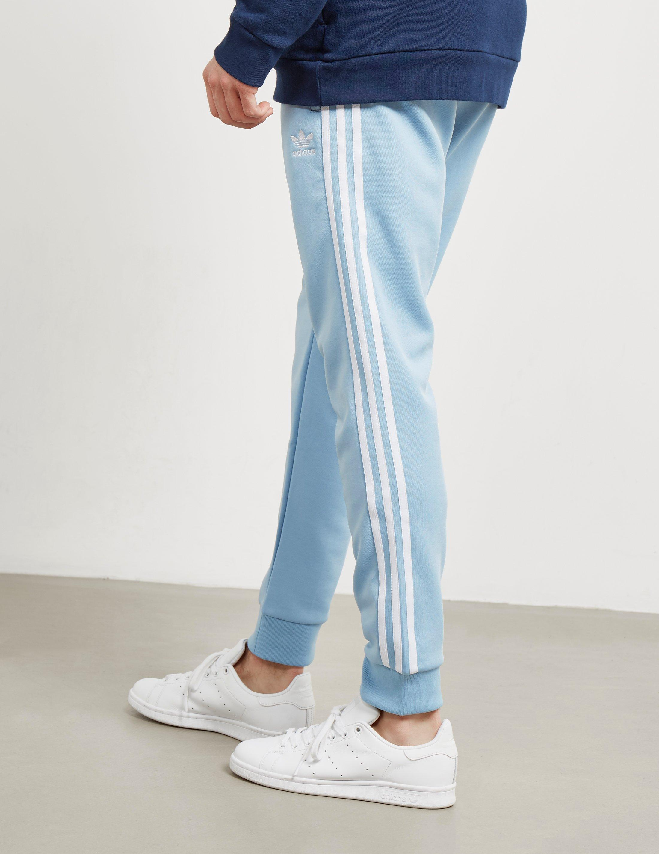 737337ce1e1c Lyst - adidas Originals Mens Superstar Track Pants Ash Blue in Blue ...