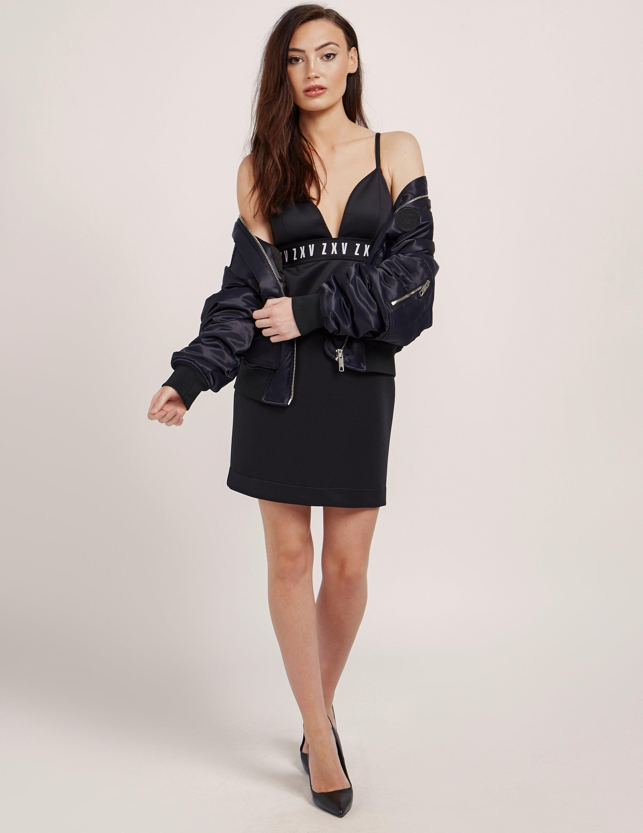 287f36950b Versus Womens X Zayn Triangle Top Dress - Online Exclusive Black in Black -  Lyst