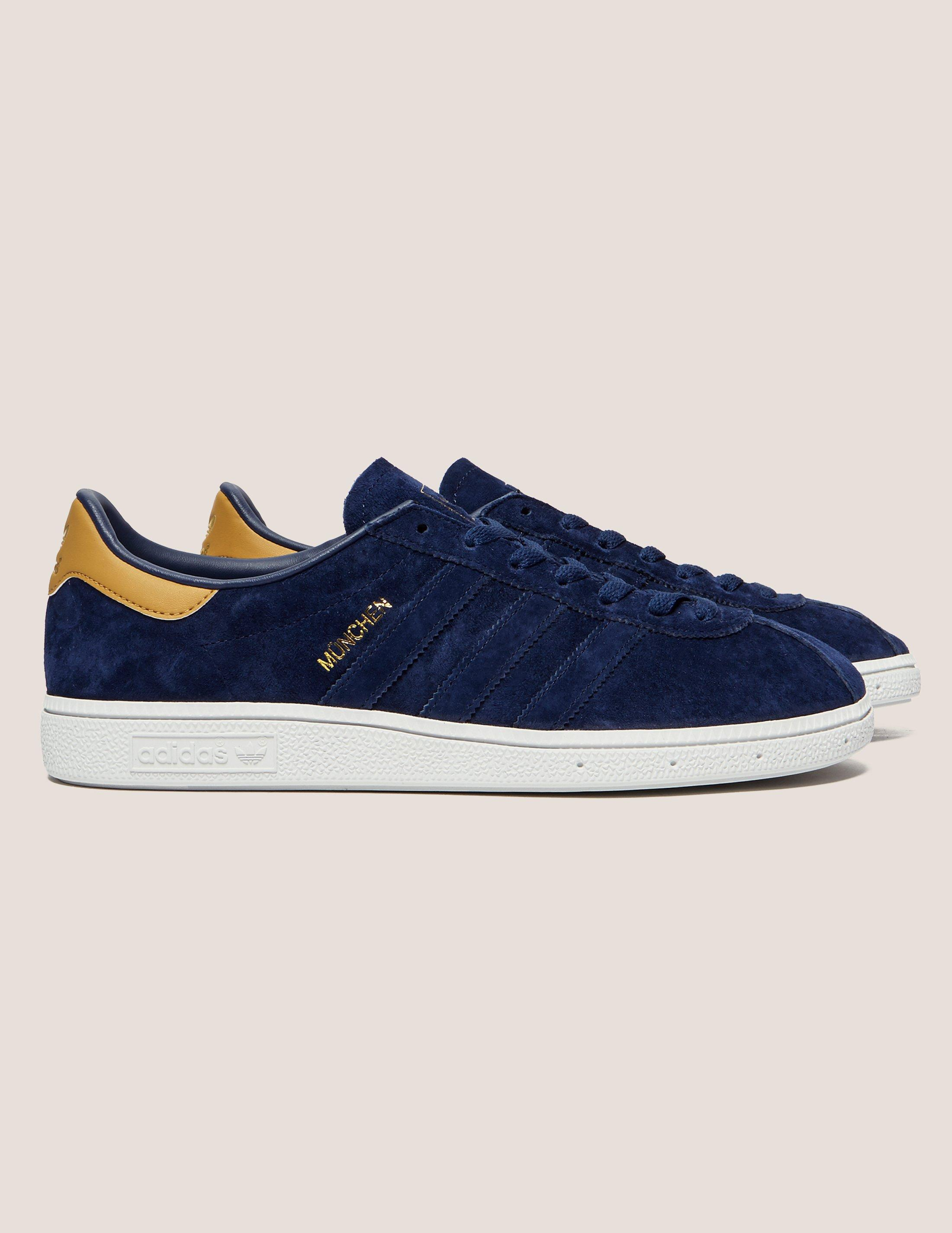 986acdee4fd6 Adidas Originals Mens Munchen Dark Blue in Blue for Men - Lyst
