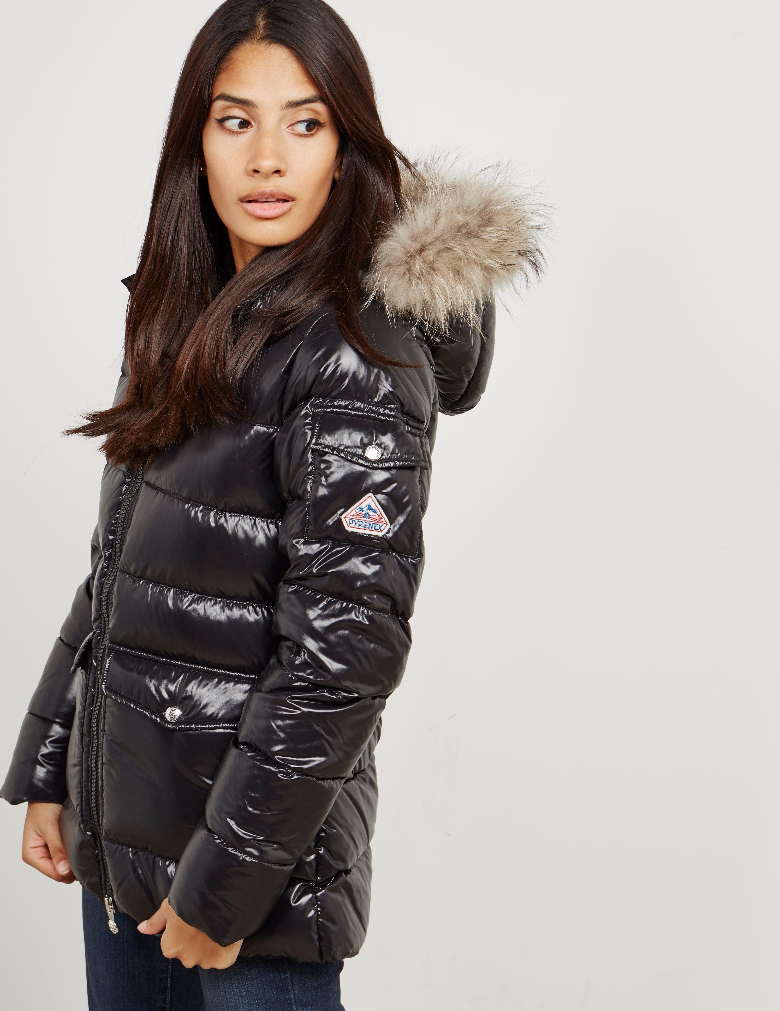 23390782680 Pyrenex Womens Authentic Padded Shiny Jacket Black in Black - Lyst