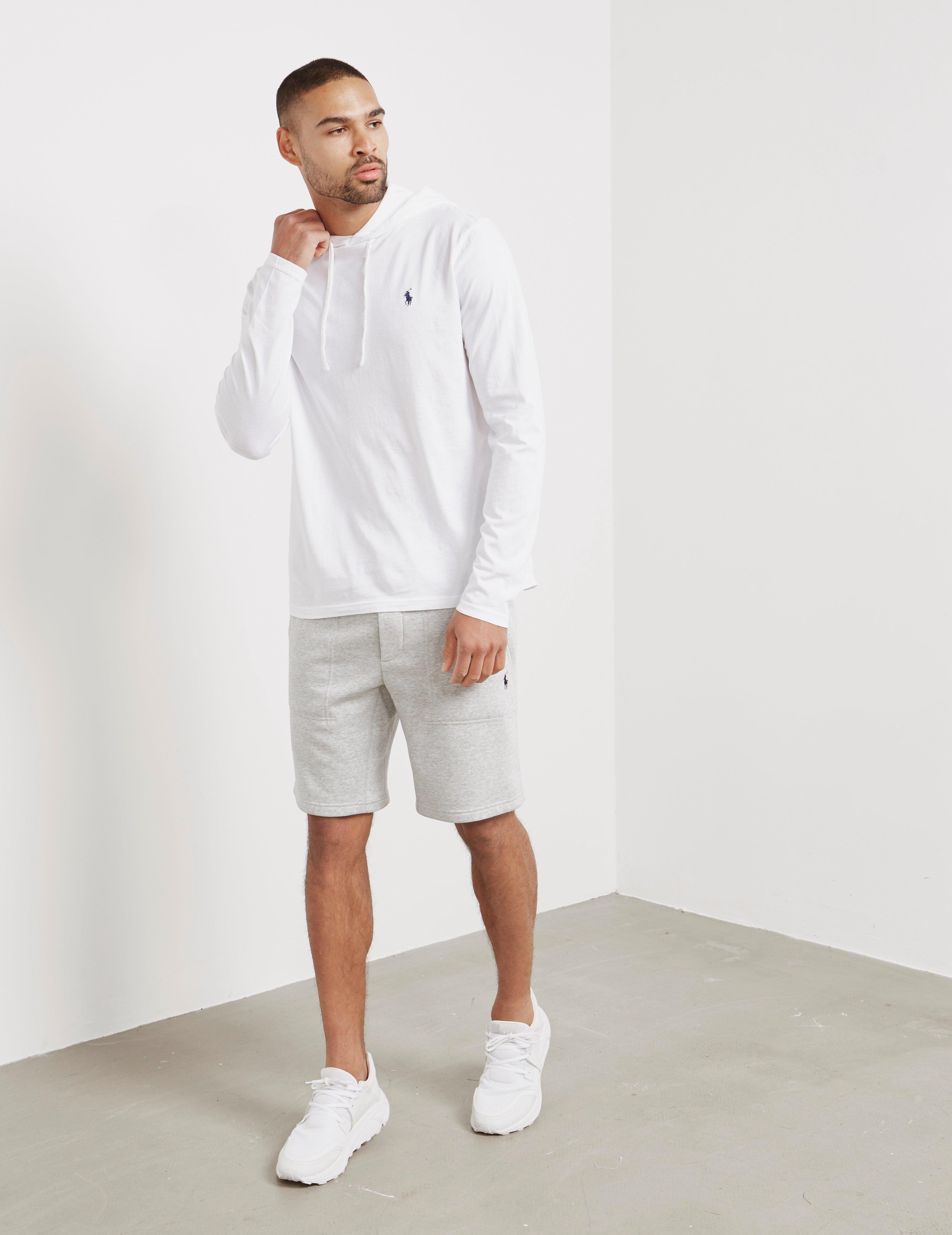 9133b6afb ... czech lyst polo ralph lauren mens basic hooded long sleeve t shirt white  in white for