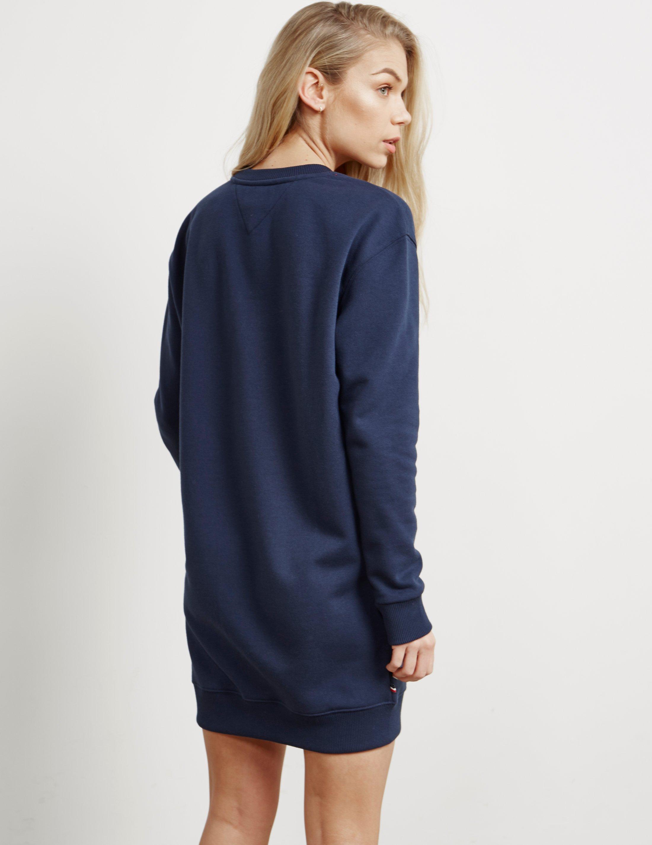 elegante Schuhe Online-Shop Fabrik authentisch Tommy Hilfiger Denim Womens Sweatshirt Dress Navy Blue - Lyst