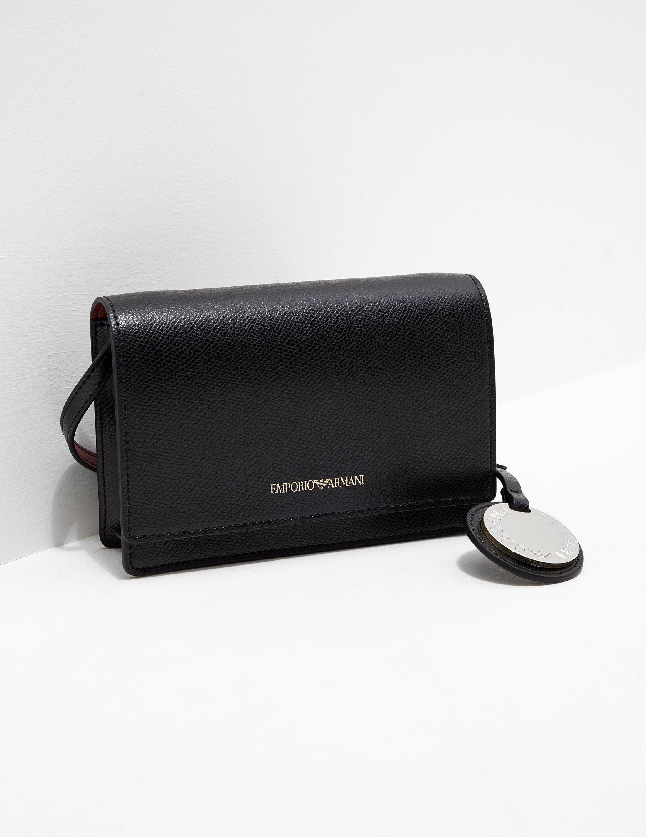 Emporio Armani Womens Crossbody Bag Black in Black - Lyst 83db8a0c27da3