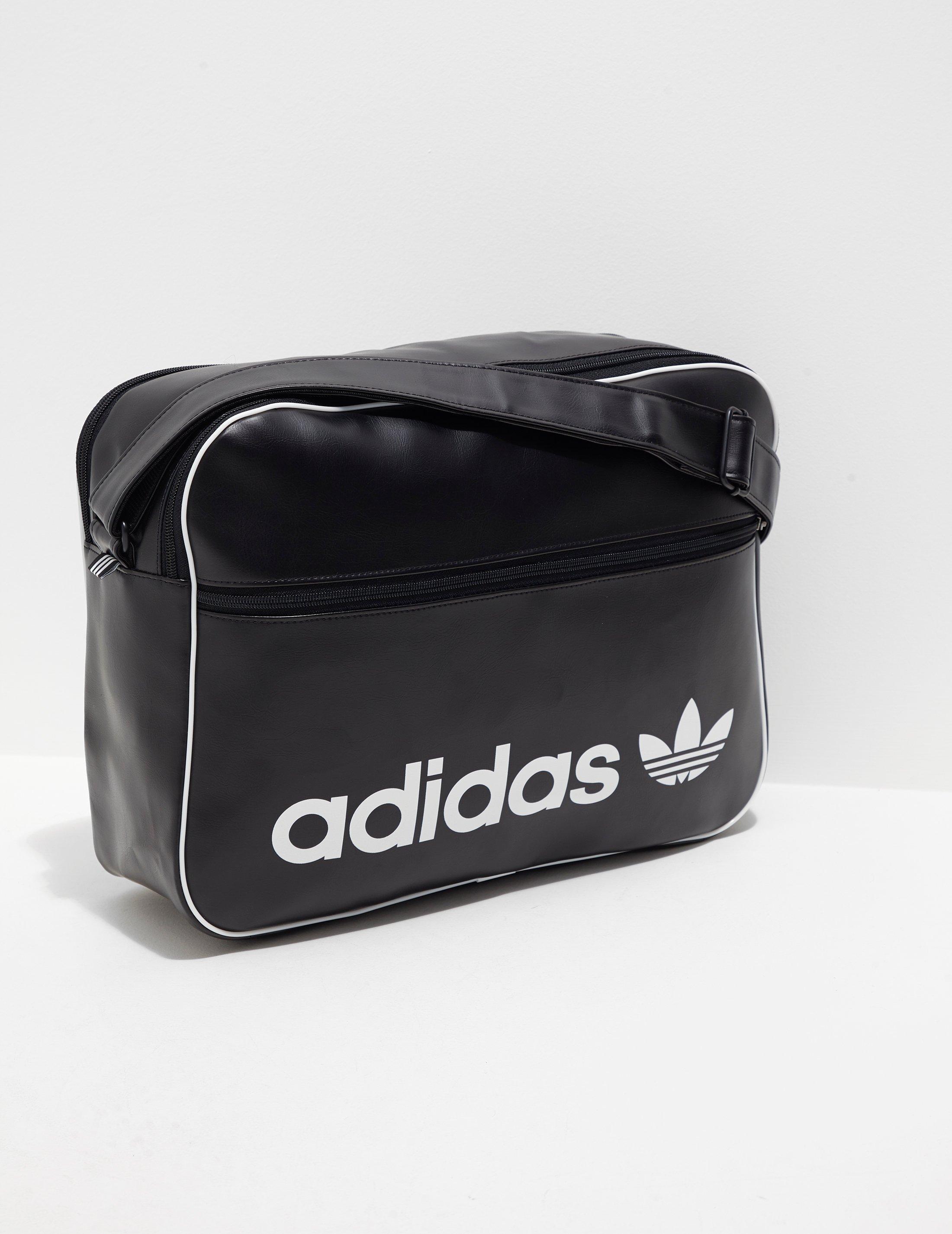 d7985fd3807a Adidas Originals Mens Airliner Bag Black white in Black - Lyst