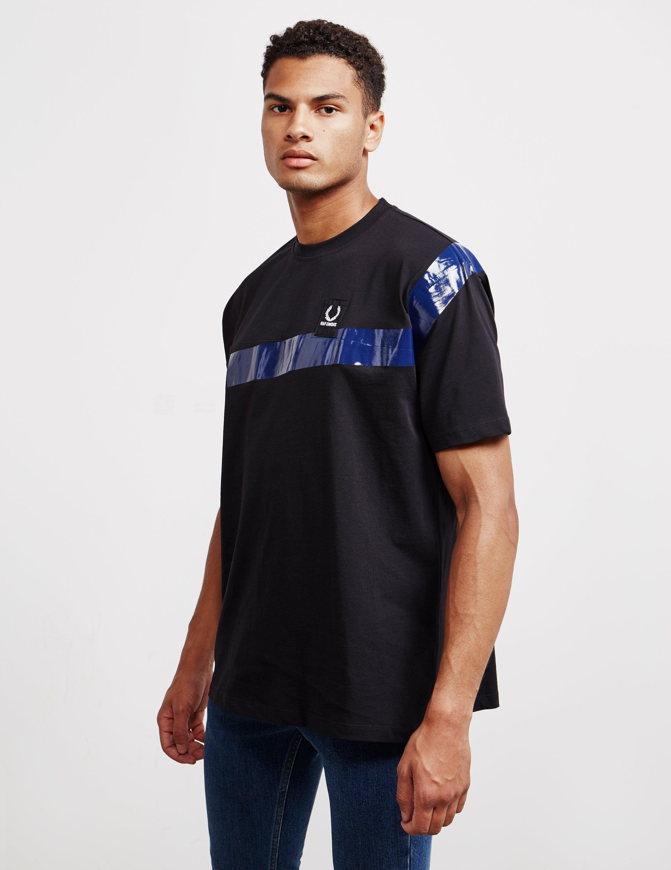 9844ecbf Lyst - Fred Perry X Raf Simons Short Sleeve Tape T-shirt Black in ...